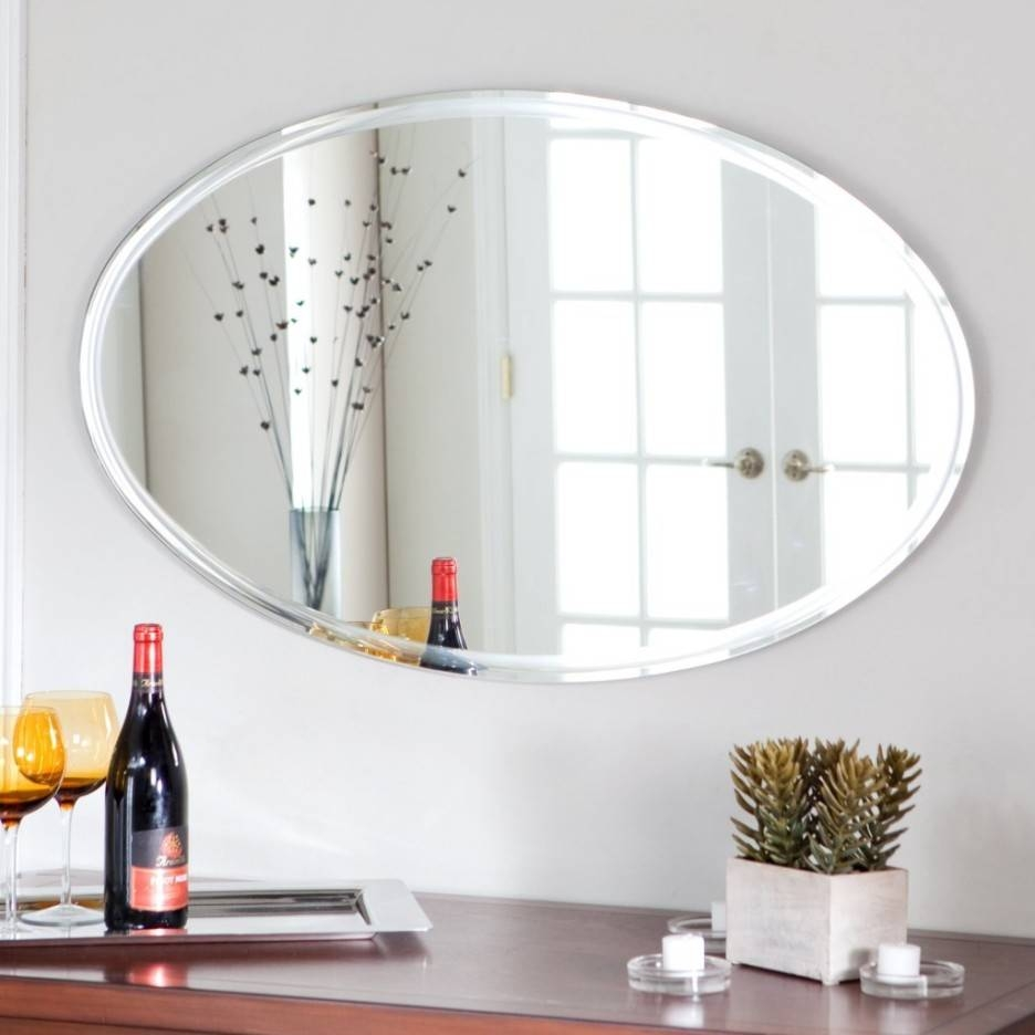 Gold Mirror In Vintage Oval Frame Small Bathroom Wall Mirror Mid with Large Oval Wall Mirrors (Image 6 of 15)