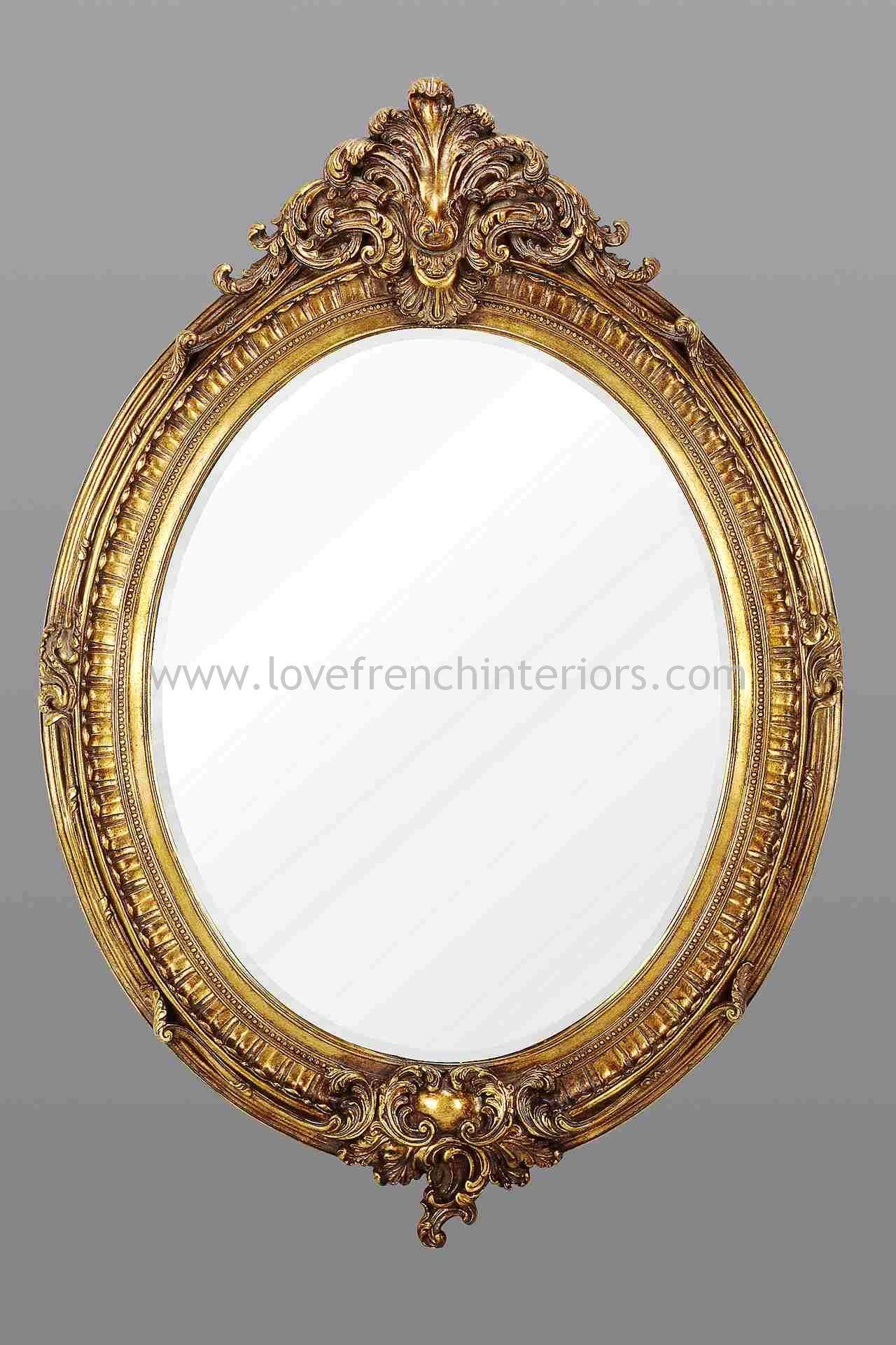 Gold Oval French Mirror regarding French Oval Mirrors (Image 12 of 15)
