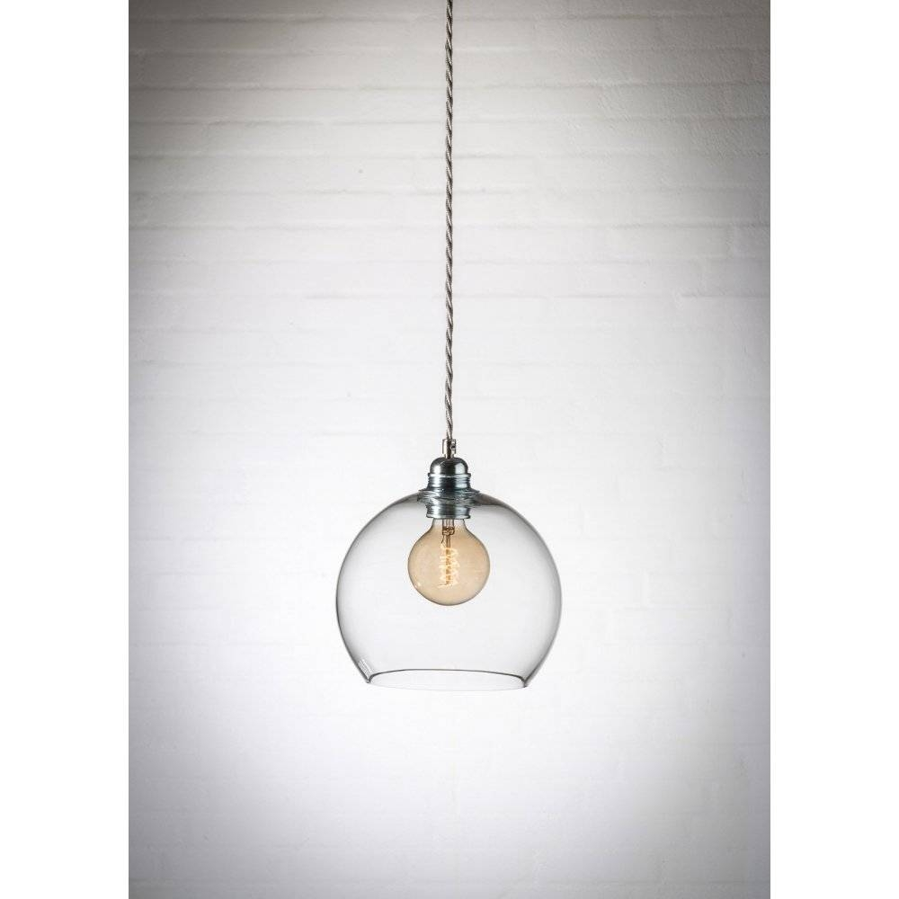 Good Clear Glass Mini Pendant Light 24 With Additional Hand Blown pertaining to Hand Blown Glass Mini Pendant Lights (Image 3 of 15)