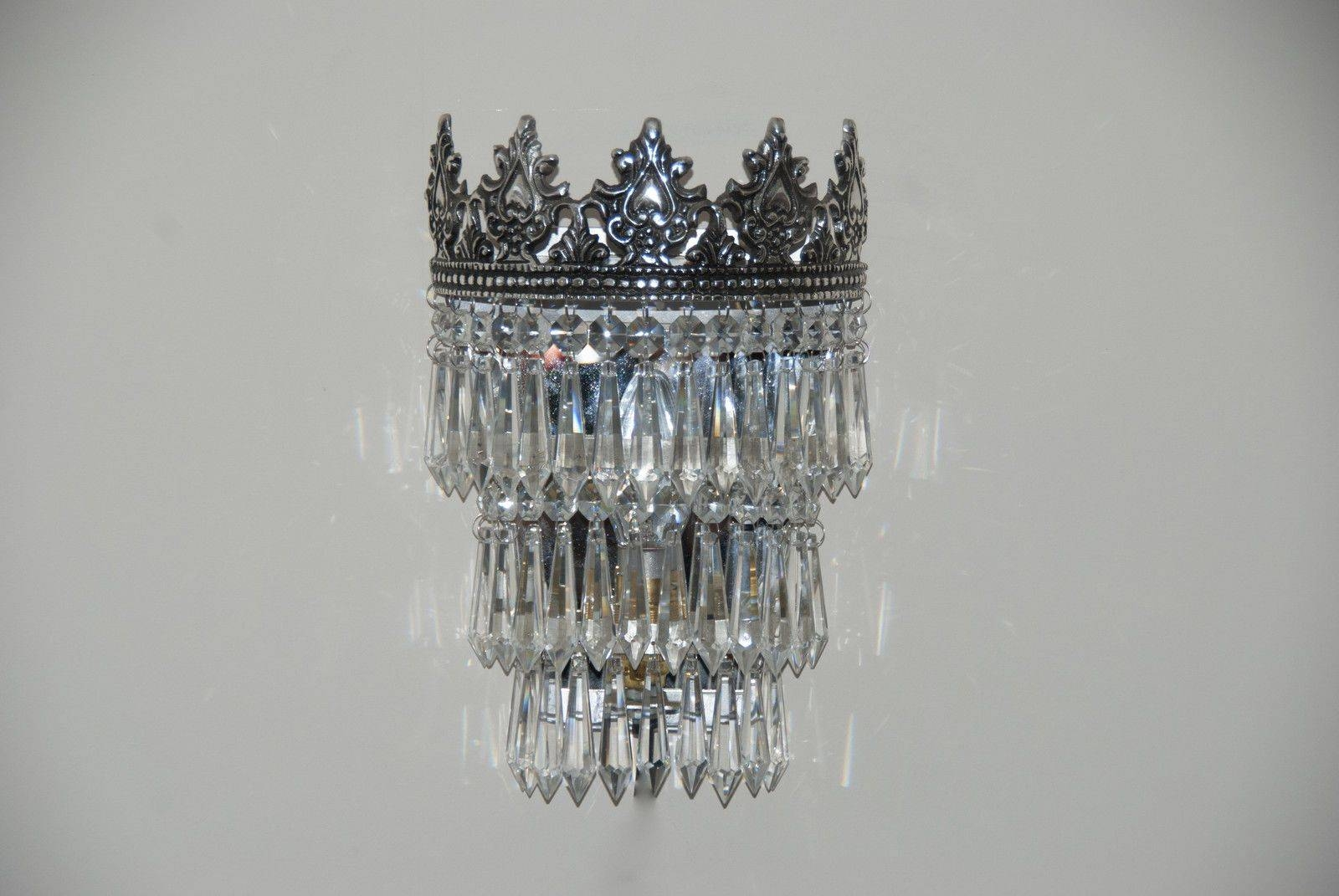 Gorgeous Vintage French Style Crystal Glass Wall Lights - 311544488742 in French Style Lights (Image 8 of 15)