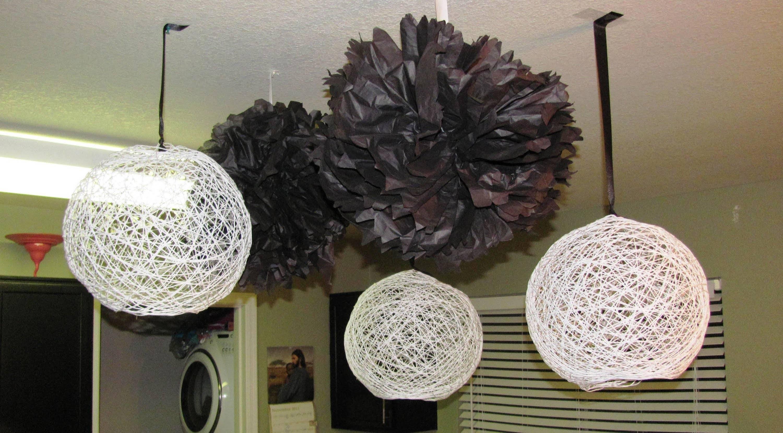 Gorgeous Yarn Lanterns! - Youtube within Diy Yarn Lights (Image 7 of 15)