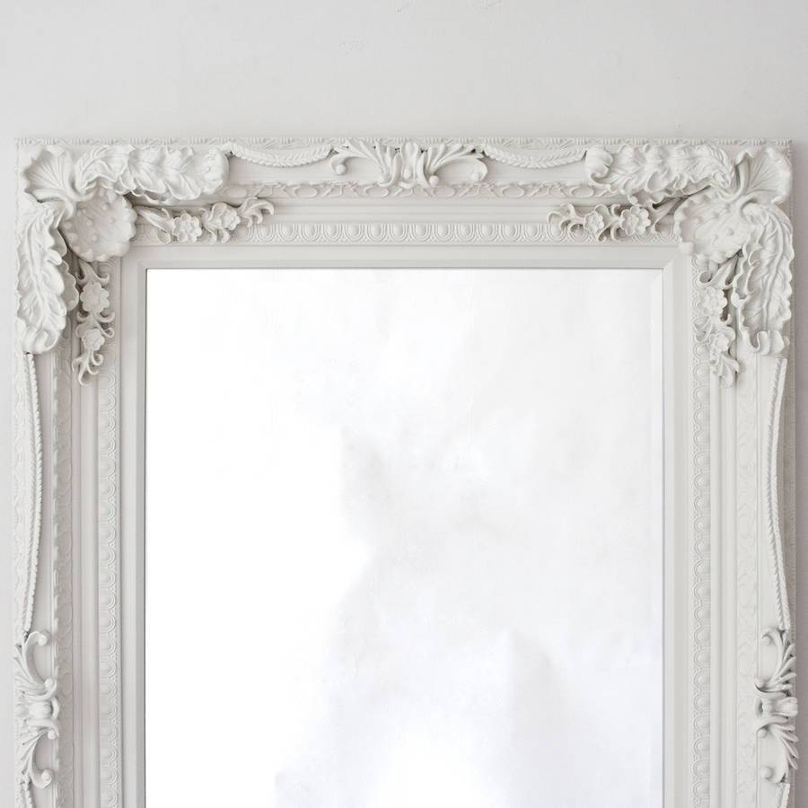 Grand Cream Full Length Dressing Mirrordecorative Mirrors intended for Cream Mirrors (Image 8 of 15)