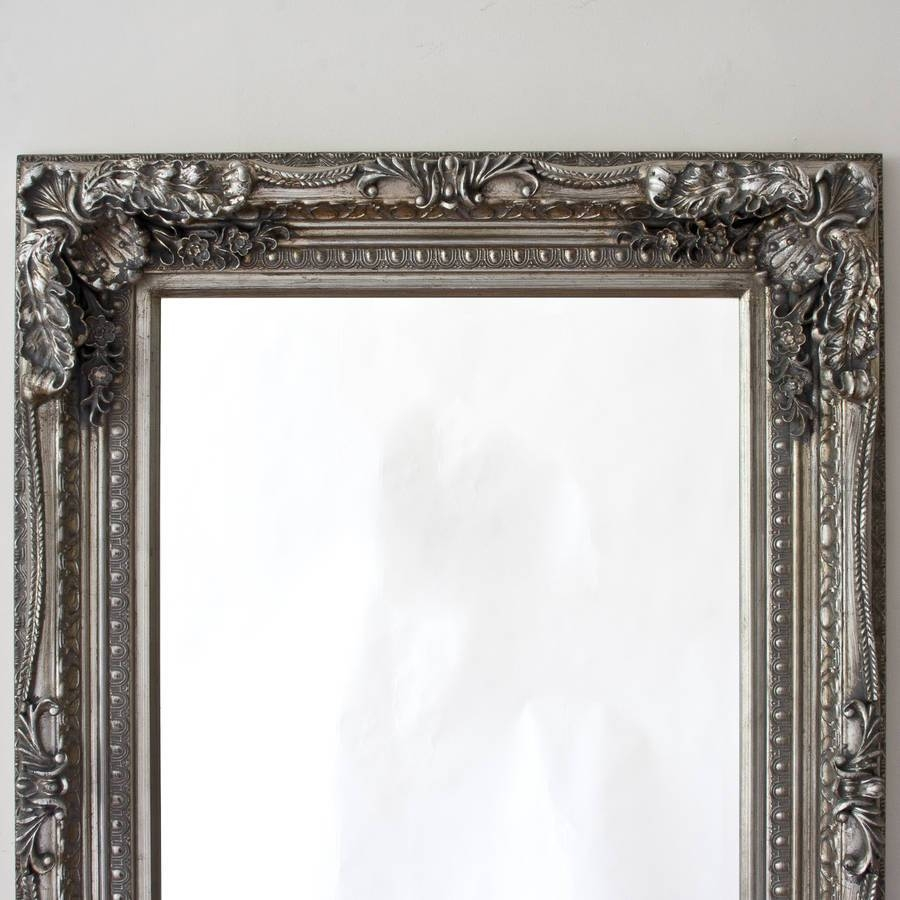 Grand Silver Or Gold Full Length Dressing Mirrordecorative With Regard To Silver Full Length Mirrors (View 7 of 15)