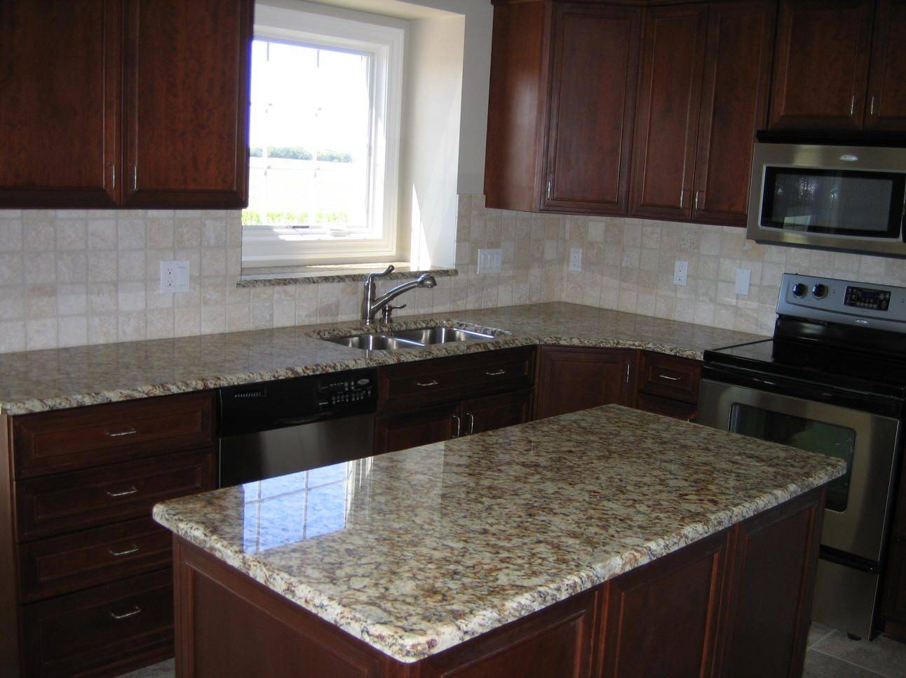 Granite Countertop : Foil Finish Cabinets Whirlpool Dishwasher Intended For Crackle Glass Pendant Lights (View 4 of 15)