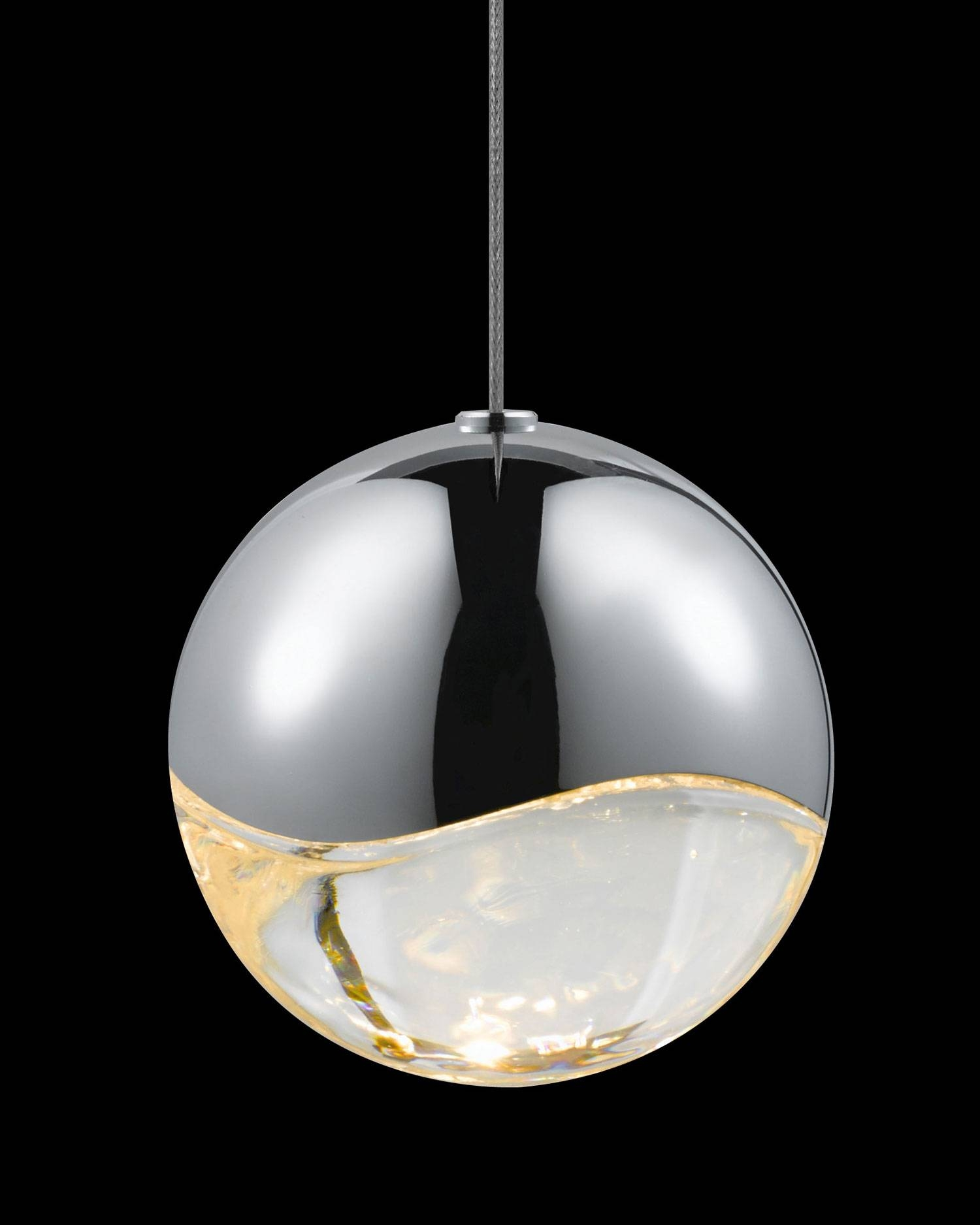 Grapes 3-Light Round Large Led Pendant Lightsonneman with regard to Large Dome Pendant Lights (Image 7 of 15)
