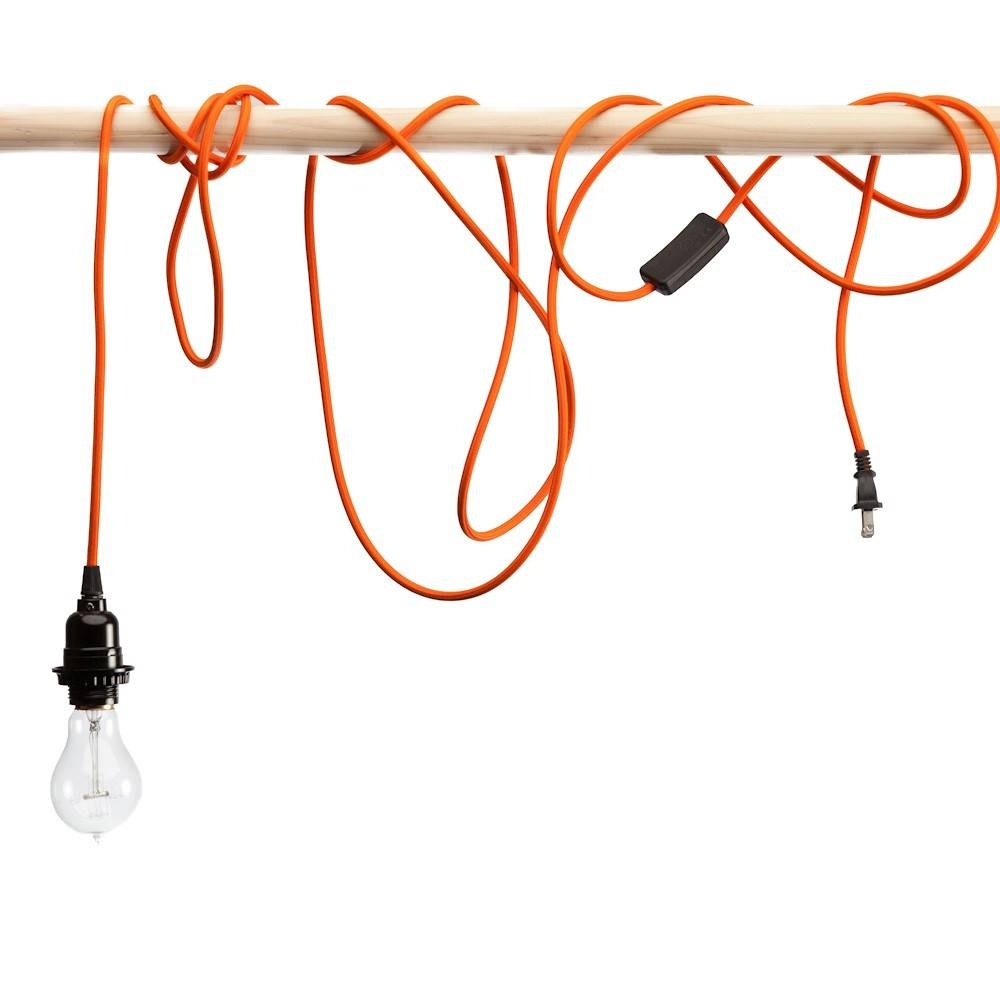 Great Pendant Light Cords 87 With Additional Track Lighting For throughout Pendant Lights With Coloured Cord (Image 8 of 15)