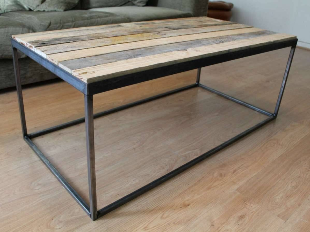 Great Steel Coffee Table Inspiration Designing Coffee Table with Wood and Steel Coffee Table (Image 7 of 15)