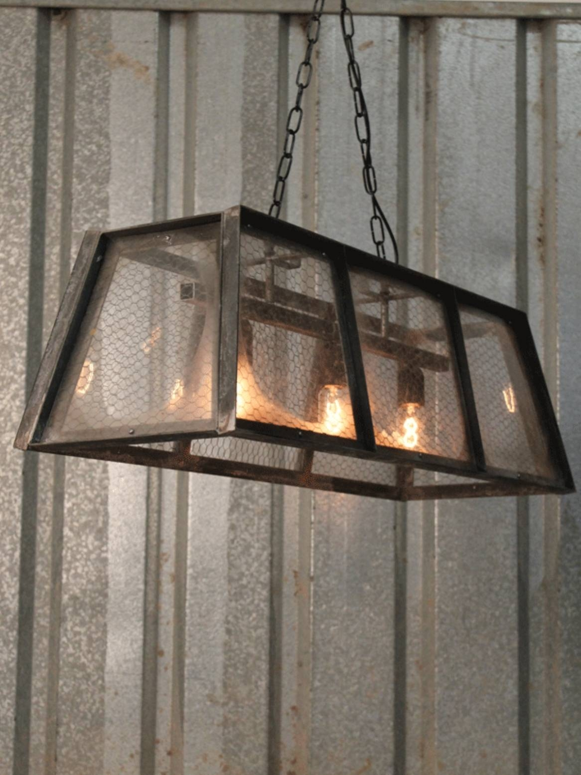 Greenhouse Style Pendant With Chicken Wire Throughout Chicken Wire Pendant Lights (View 9 of 15)