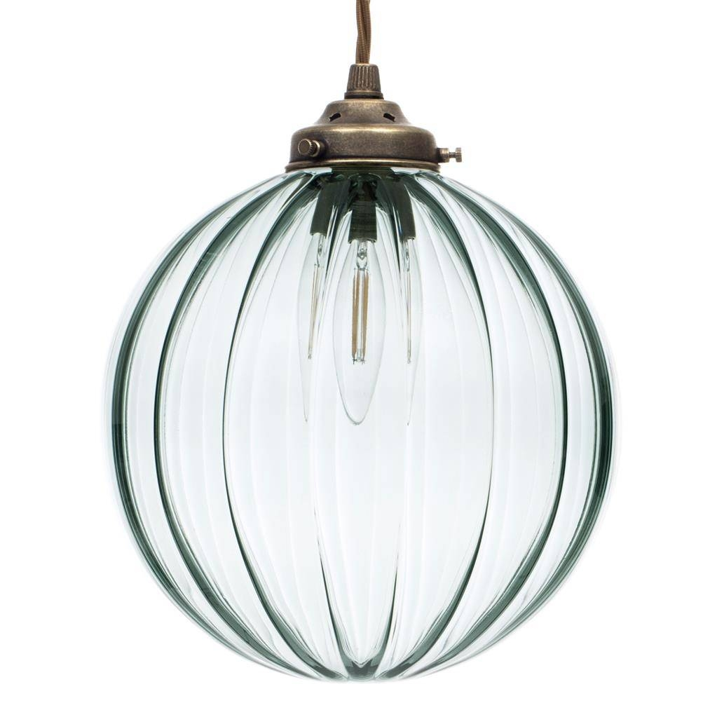 Greeny Blue | Coloured Glass | Fulbourn Pendant Light | Jim Lawrence in Coloured Glass Pendant Light (Image 9 of 15)