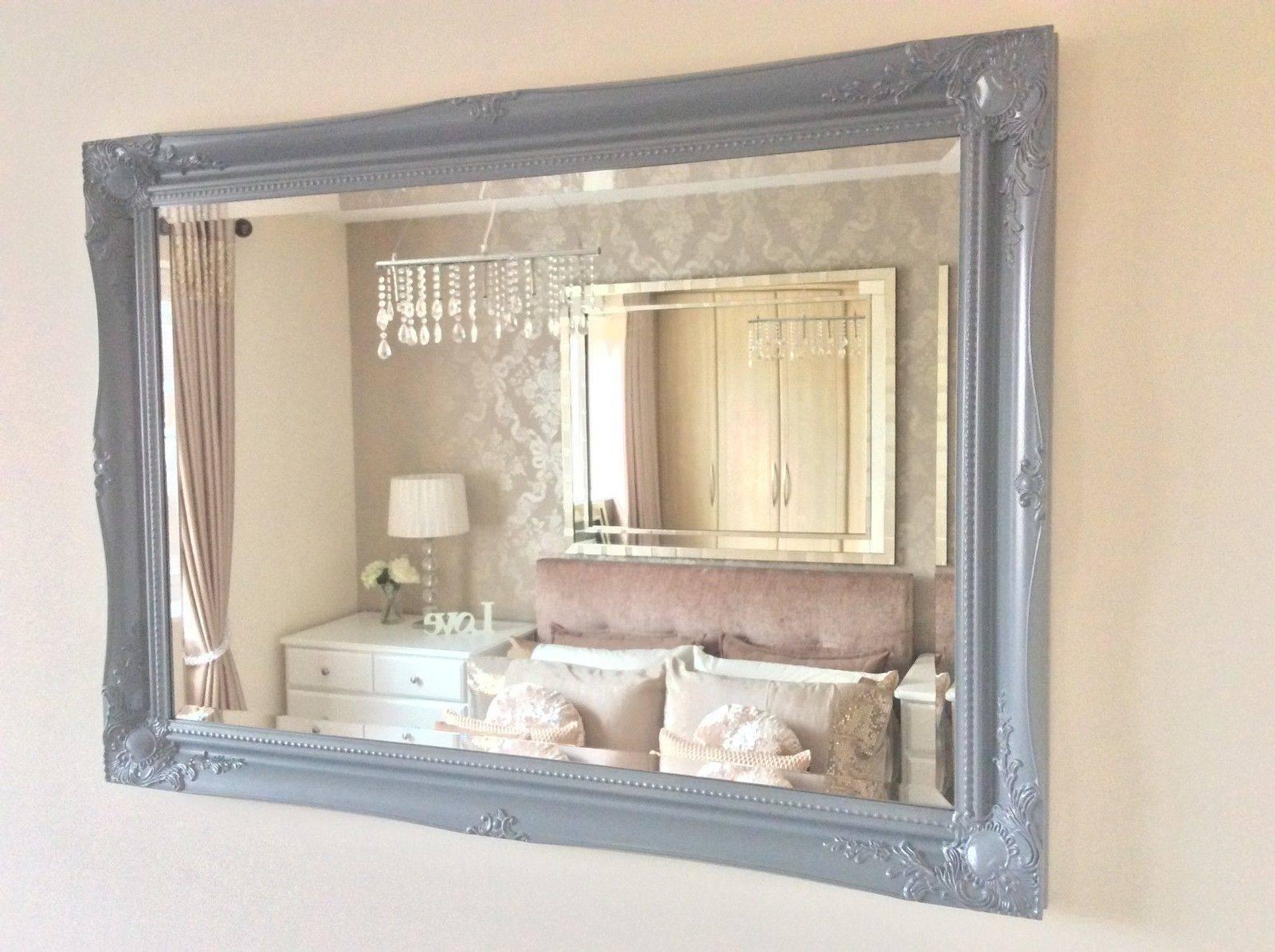 Grey Shabby Chic Ornate Decorative Wall Mirror Free Postage In Shabby Chic Wall Mirrors (View 3 of 15)