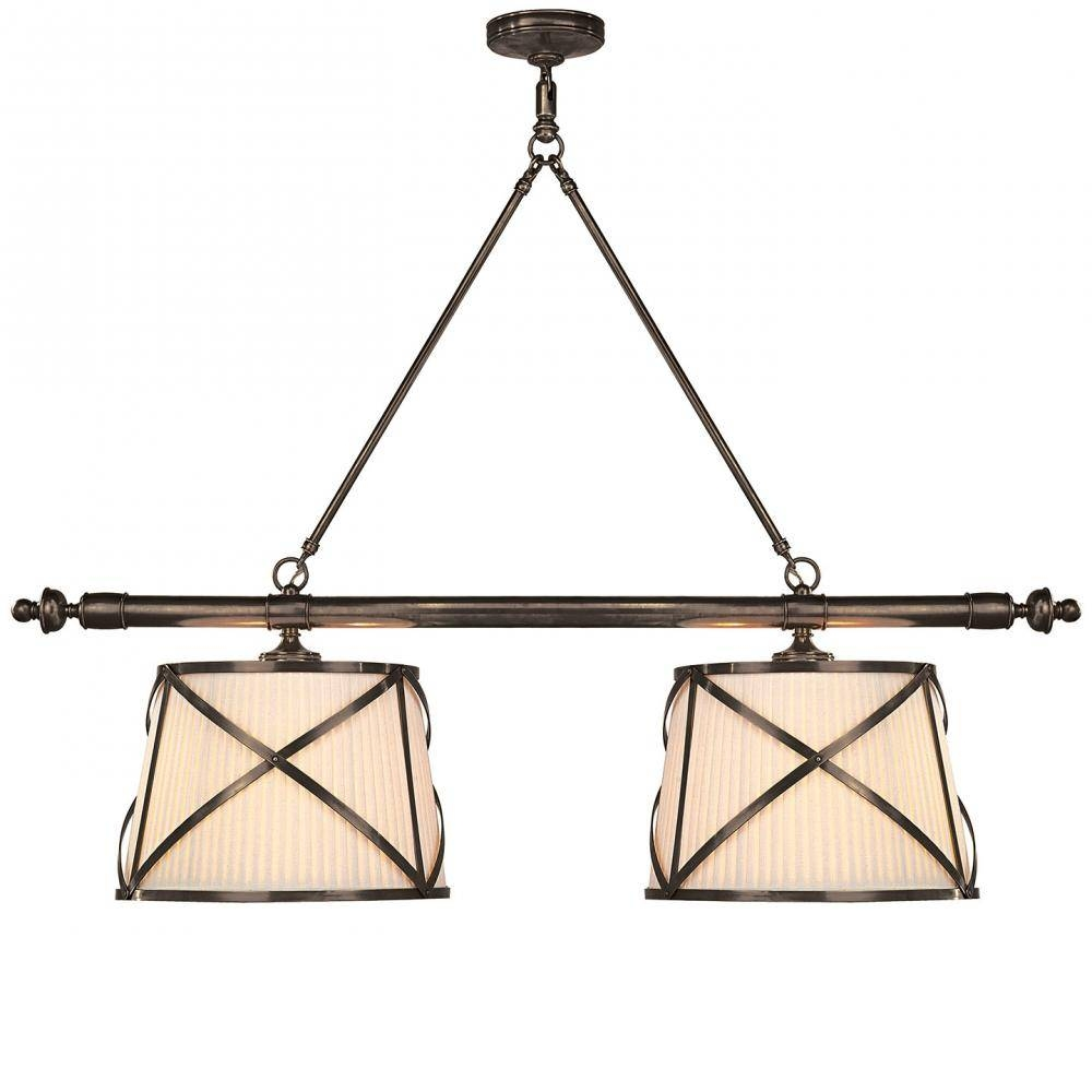 Grosvenor Linear Double Pendant In Bronze With L : Chc 1481Bz-L throughout Grosvenor Lights Pendants (Image 8 of 15)
