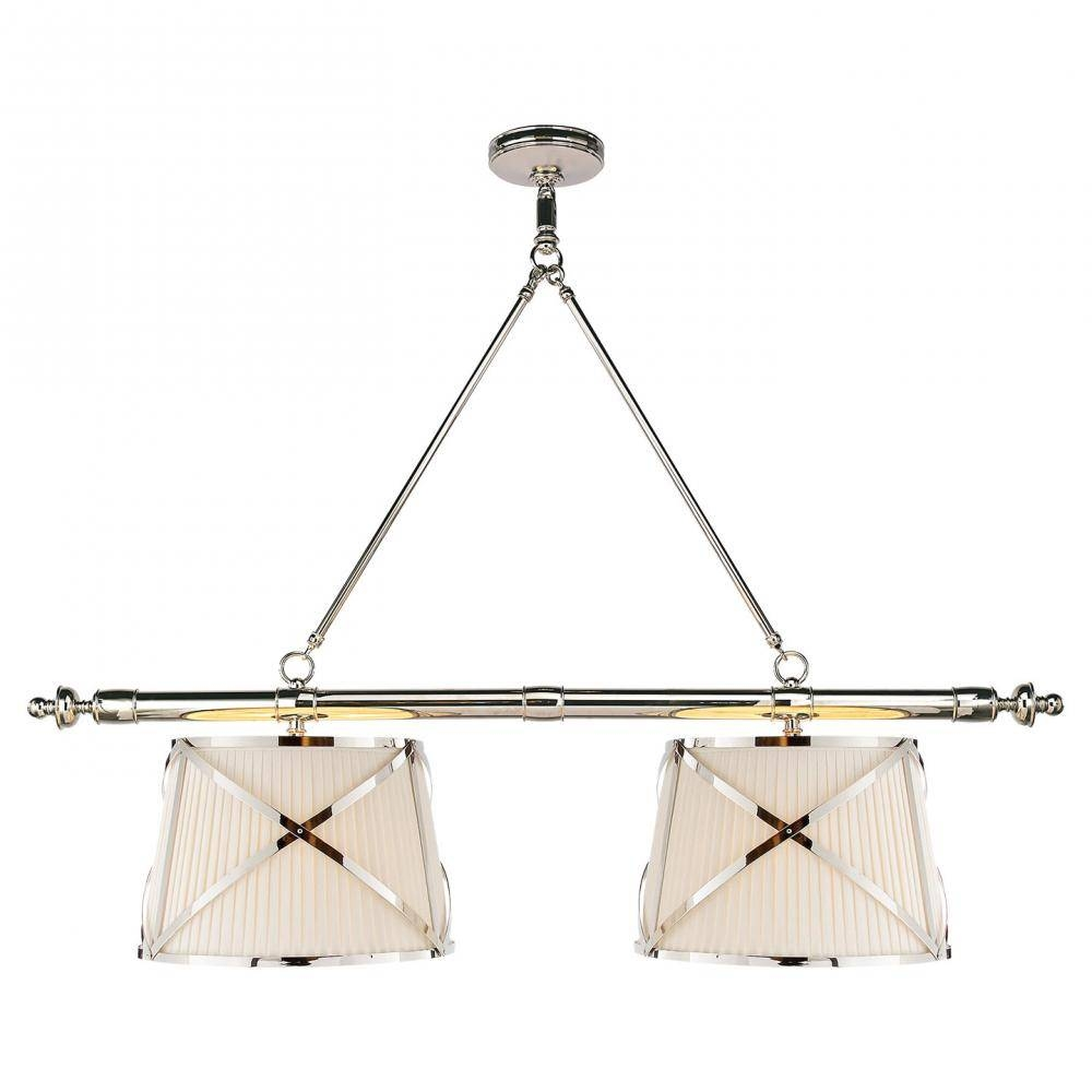 Grosvenor Linear Double Pendant In Polished Nick : Chc 1481Pn-L intended for Grosvenor Lights Pendants (Image 9 of 15)