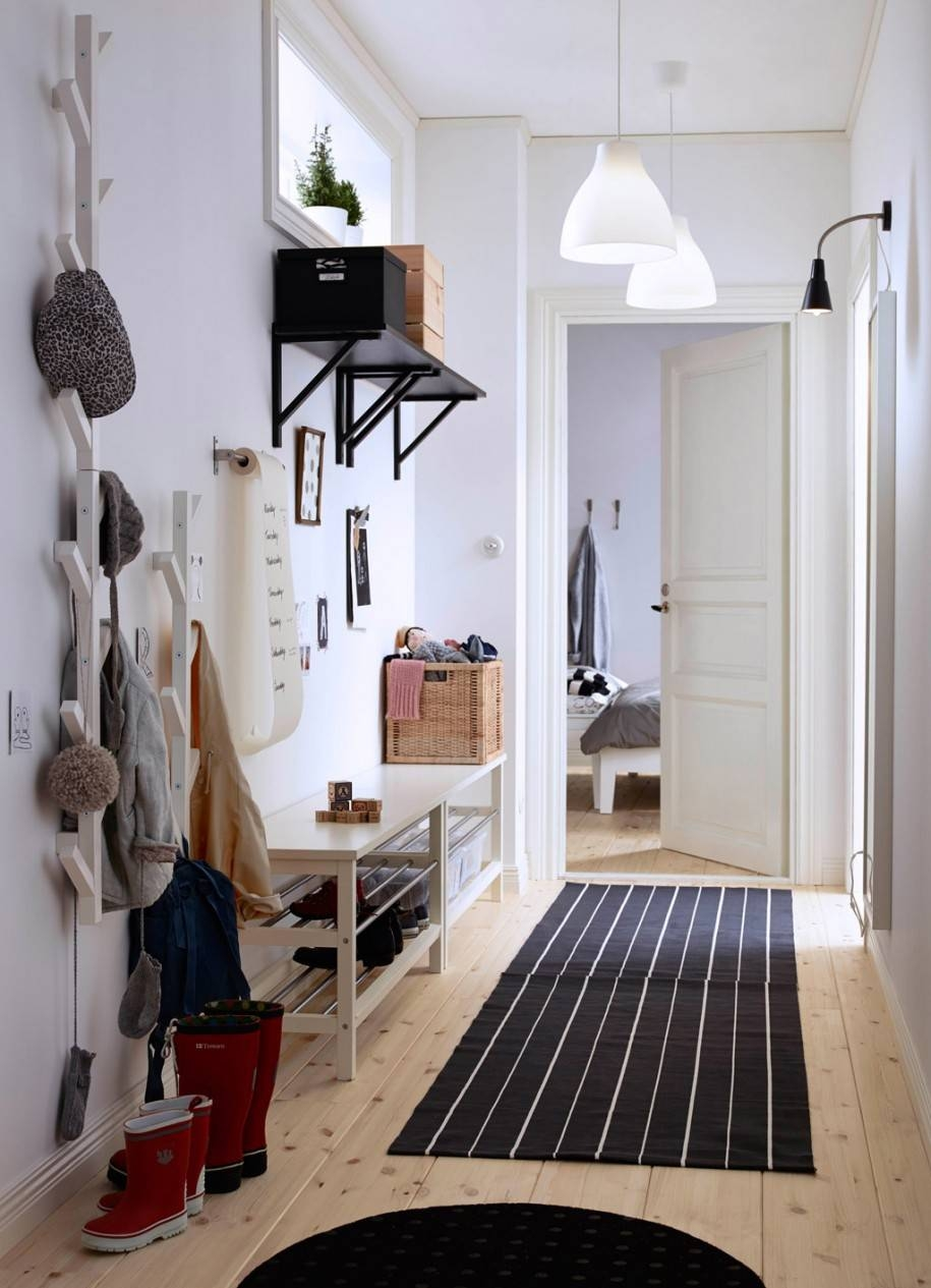 Hallway Furniture: Ikea Hallway Furniture And White Pendant Light within Entry Hall Pendant Lighting (Image 7 of 15)