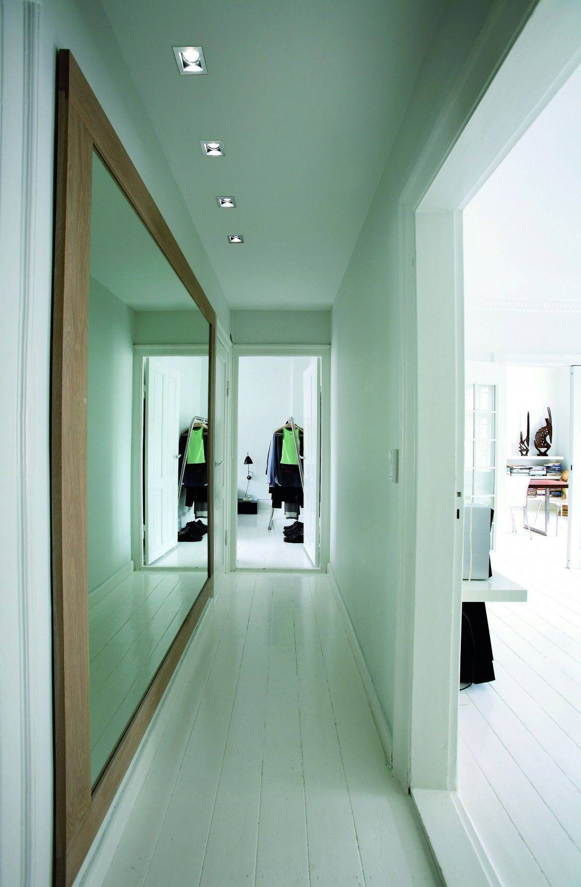 Hallway With Large Framed Wall Mirror In White Walls - Hallway with Long Mirrors For Hallway (Image 10 of 15)