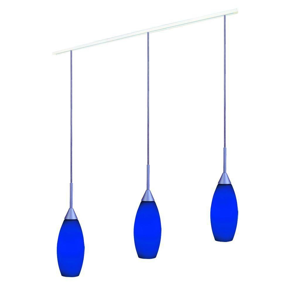 Halo Blue Glass Pendant Track Kit With 3 Pendants Lzr603Bl Kit With Regard To Halo Track Lighting Pendants (View 5 of 15)
