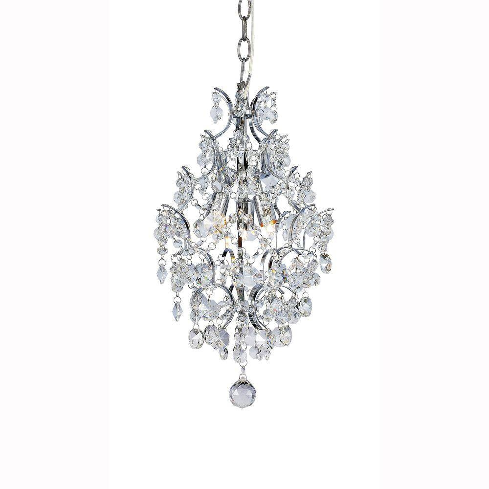 Halogen - Pendant Lights - Hanging Lights - The Home Depot with regard to Crystal Pendant Lights (Image 13 of 15)