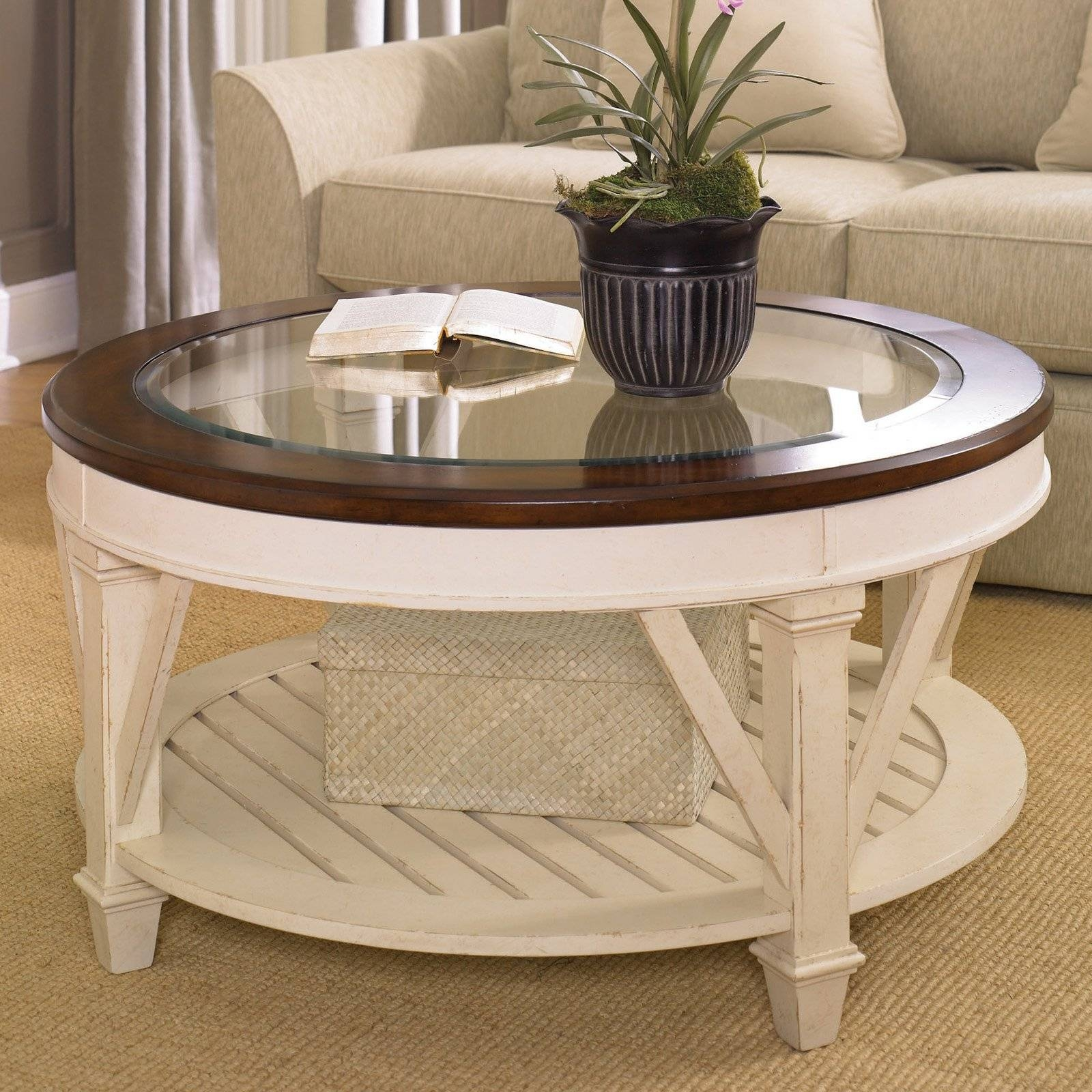 Hammary Promenade Round Coffee Table | Hayneedle pertaining to Solid Glass Coffee Table (Image 8 of 15)