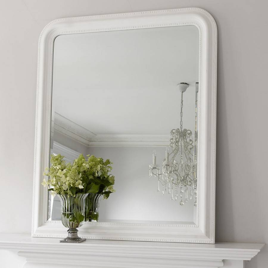 Hampshire Mirror – White Large | Brissi With White Overmantle Mirrors (View 3 of 15)