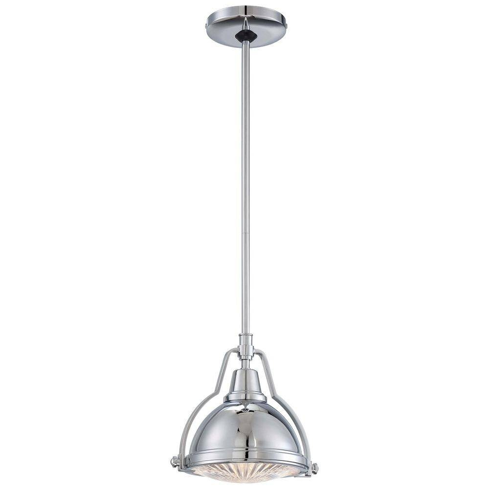 Hampton Bay 1-Light Brushed Nickel/polished Nickel Mini Pendant with regard to Brushed Stainless Steel Pendant Lights (Image 5 of 15)