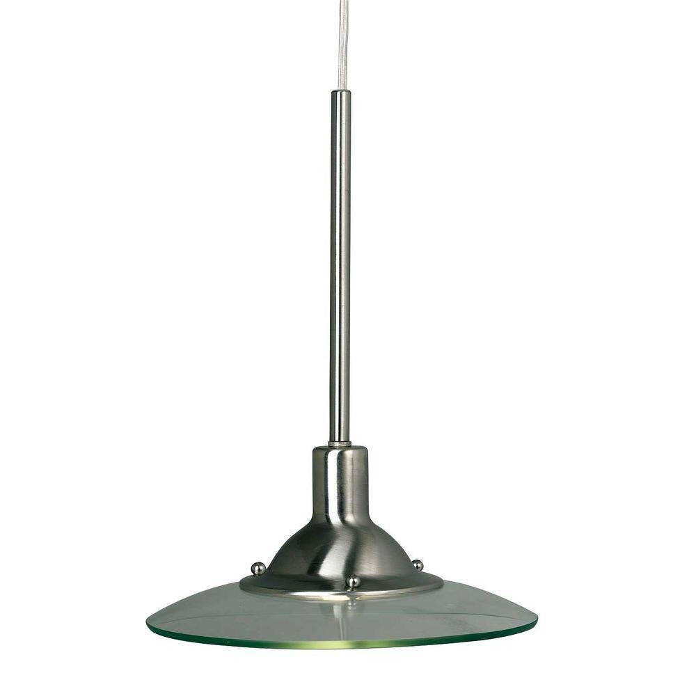 Hampton Bay 1-Light Brushed Steel Linear-Track Hanging Pendant with regard to Brushed Steel Pendant Lights (Image 5 of 15)