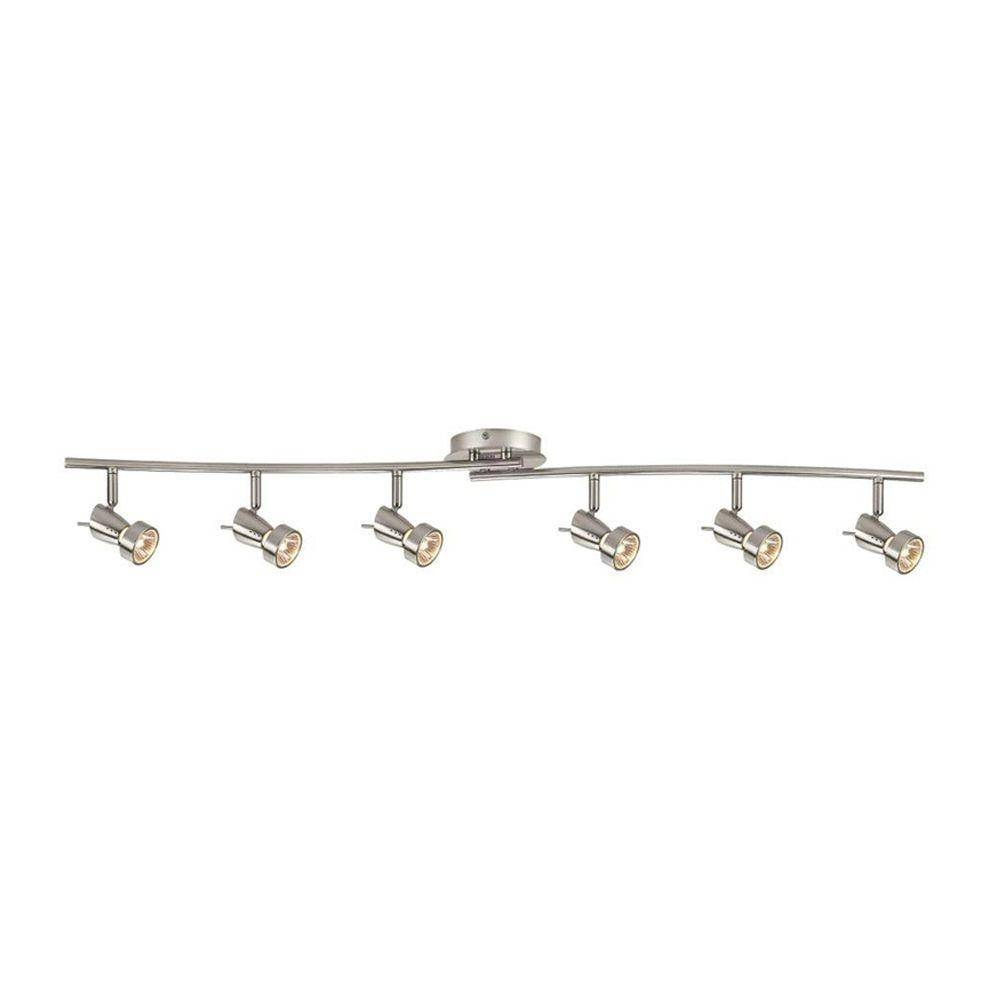Hampton Bay 6-Light Brushed Nickel Ceiling/wall Dual Wave Bar for Hampton Bay Track Lights (Image 11 of 15)
