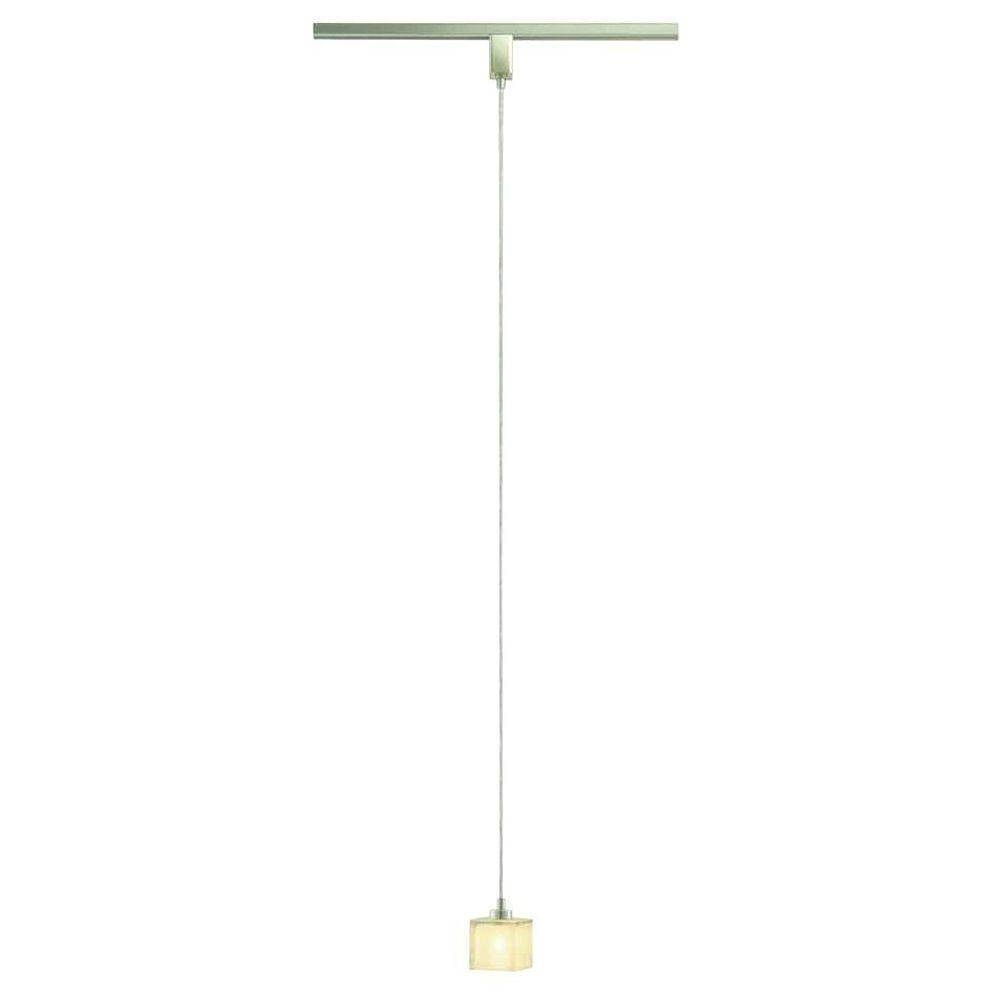 Hampton Bay Brushed Nickel Miniature Pendant Track Lighting with regard to Miniature Pendant Lights (Image 3 of 15)