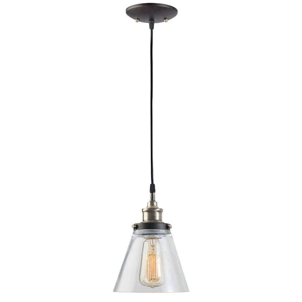 Hampton Bay - Pendant Lights - Hanging Lights - The Home Depot pertaining to Hanging Lights Fixtures (Image 4 of 15)