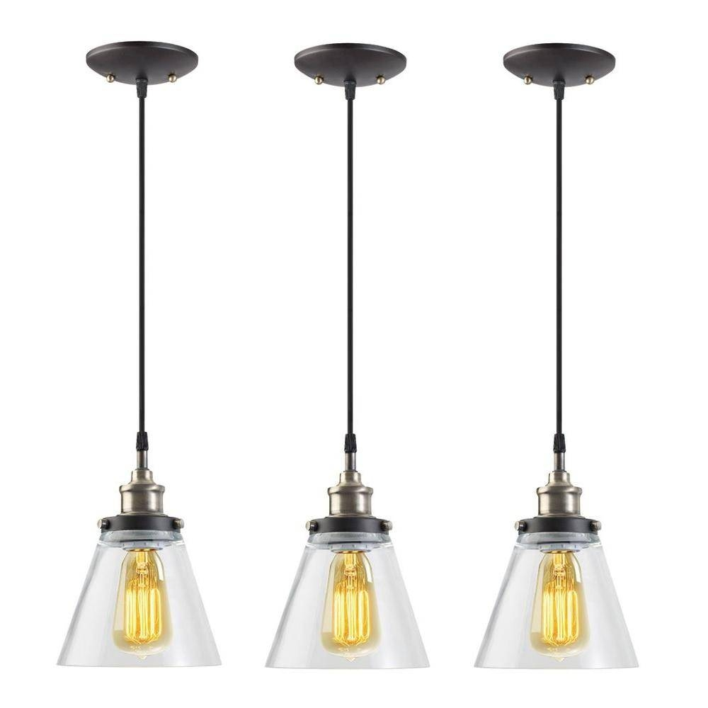 Hampton Bay - Pendant Lights - Hanging Lights - The Home Depot with regard to Hanging Lights Fixtures (Image 5 of 15)