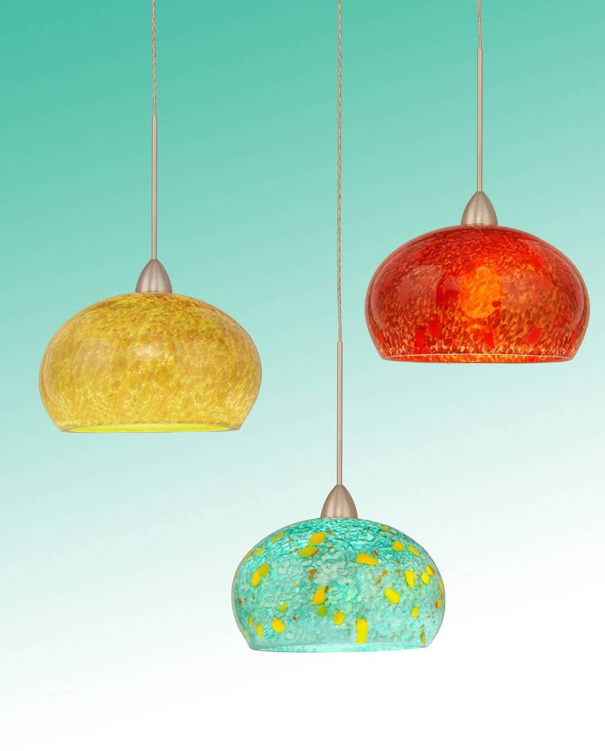 Hand Blown Glass Mini Pendant Lights - Baby-Exit throughout Hand Blown Glass Mini Pendant Lights (Image 7 of 15)