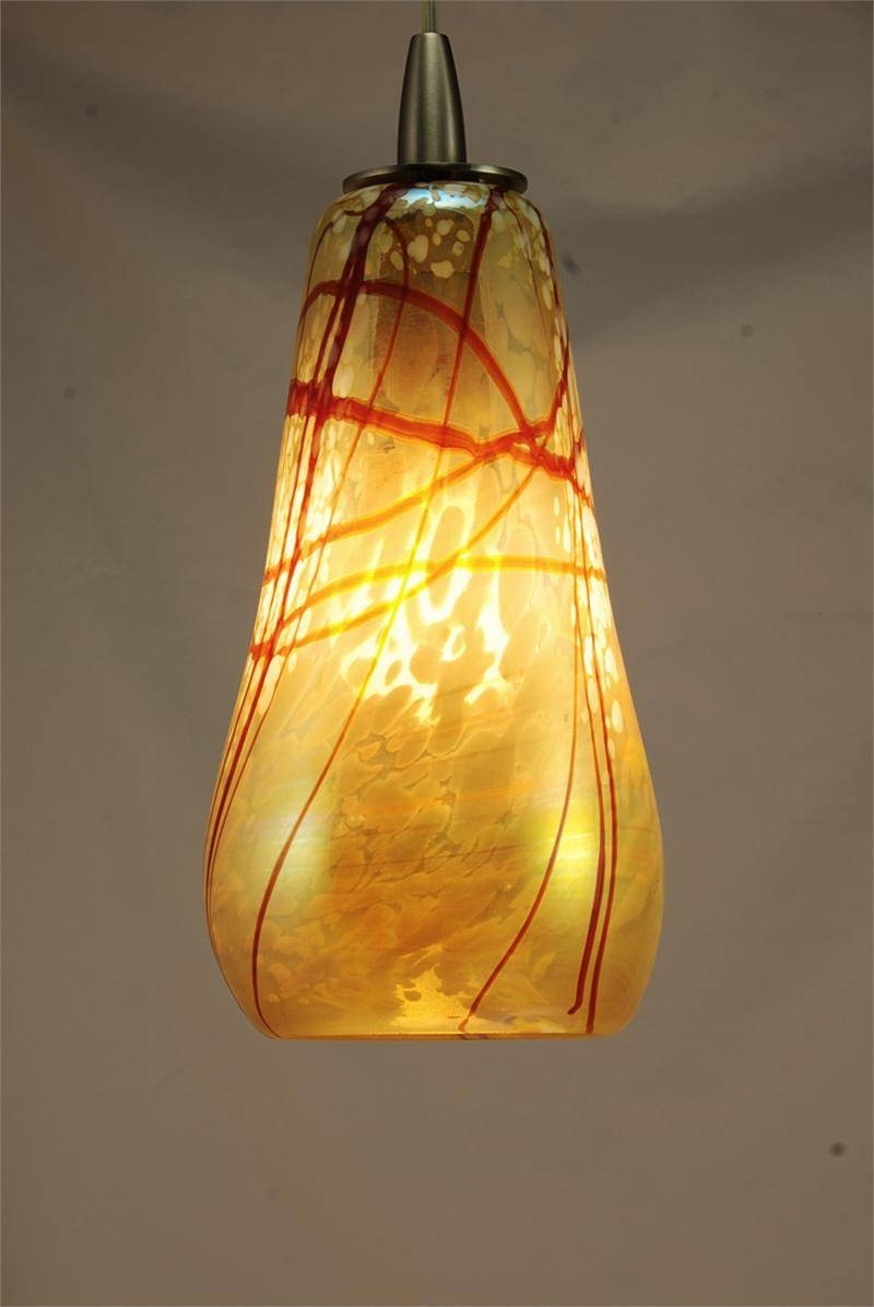 Featured Photo of Hand Blown Glass Mini Pendant Lights