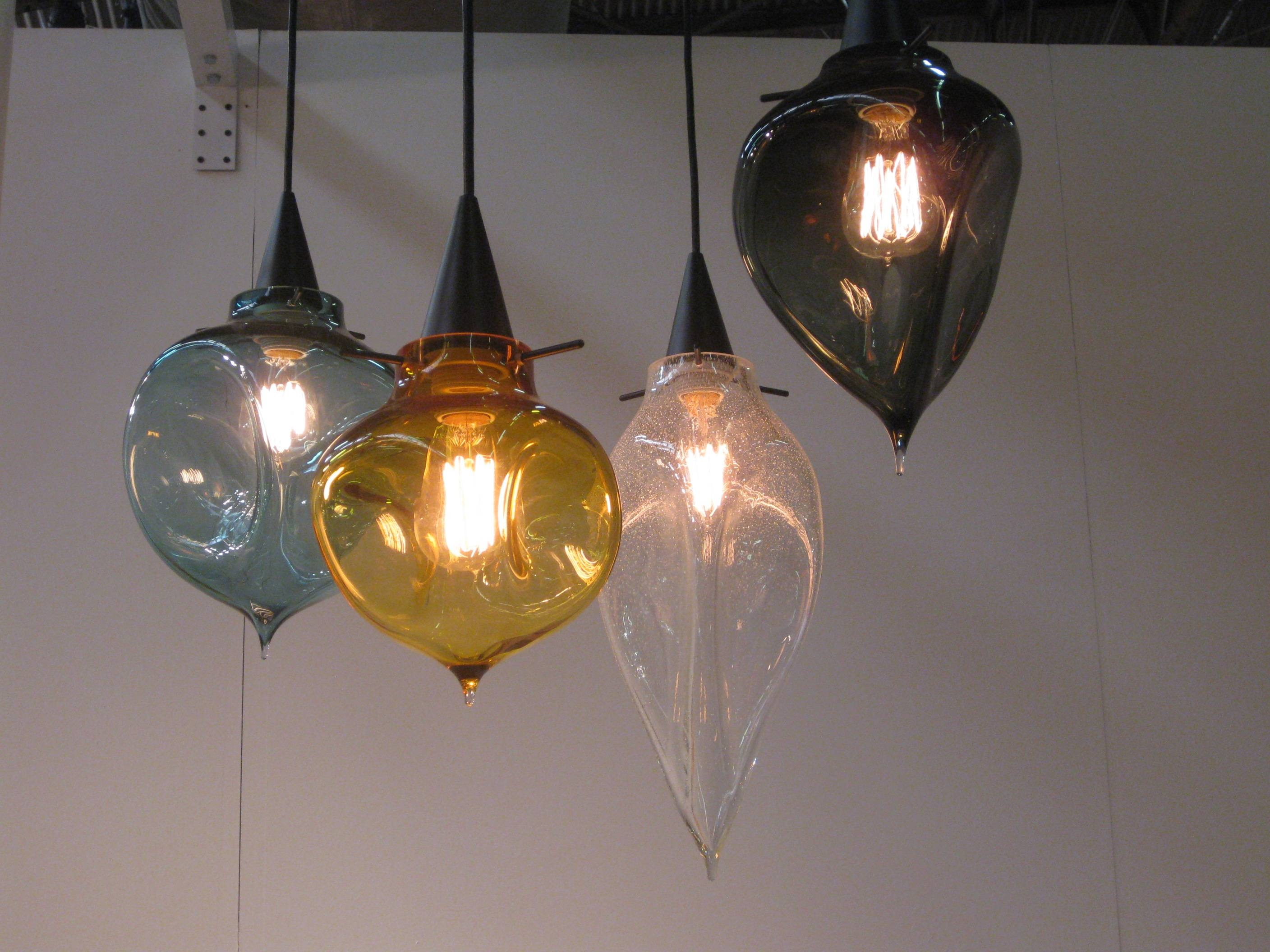 Hand Blown Glass Pendant Light Shades | Roselawnlutheran With Regard To Coloured Glass Pendants (View 8 of 15)