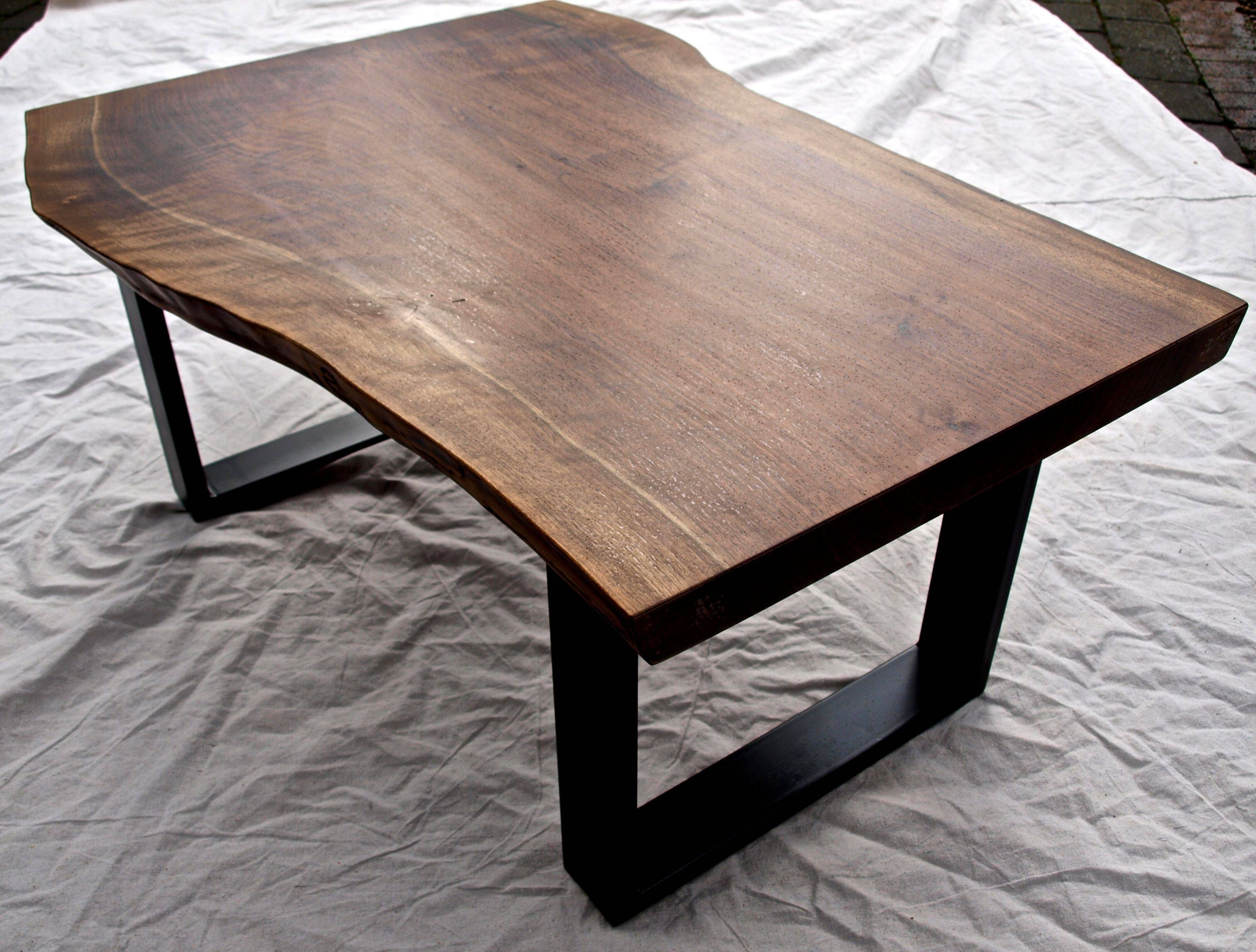 Hand Crafted Live Edge Walnut Coffee Tablewitness Tree Studios pertaining to Live Edge Coffee Tables (Image 6 of 15)