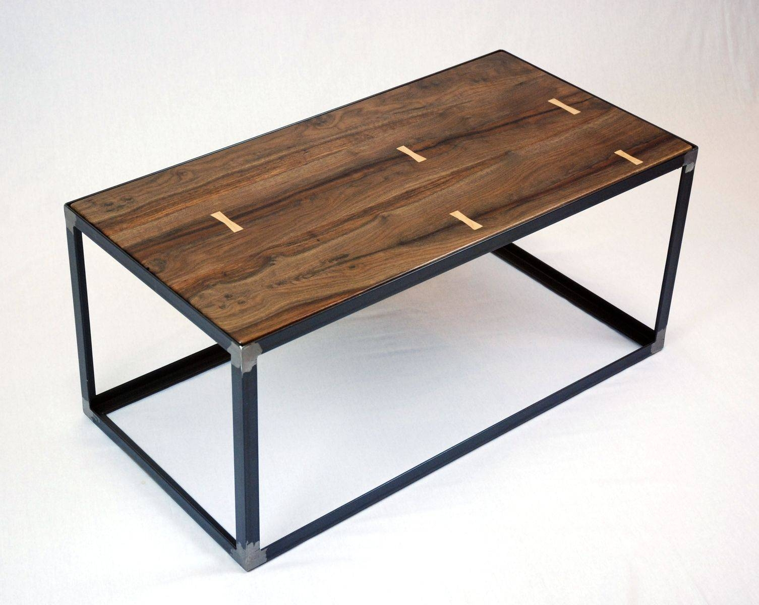 Hand Crafted Salvaged Black Walnut Industrial Coffee Table pertaining to Industrial Coffee Tables (Image 5 of 15)