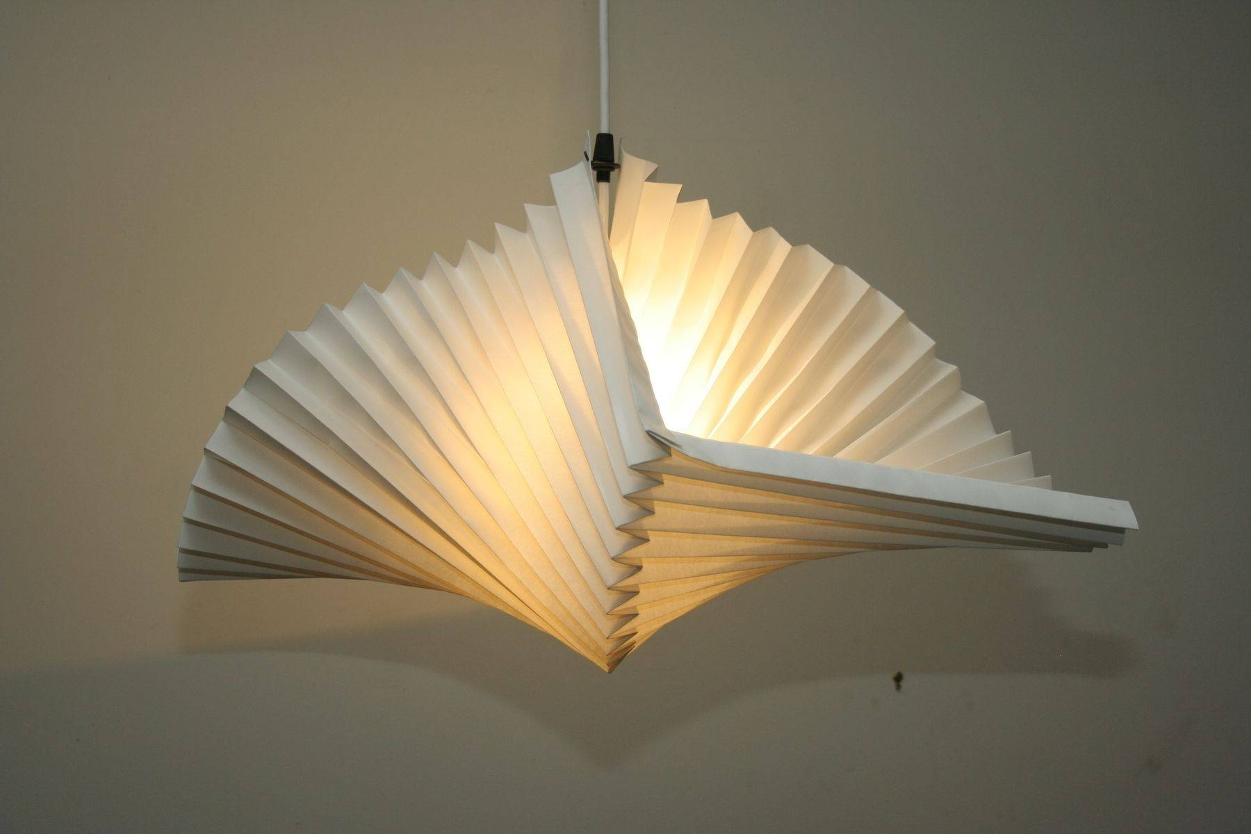 Hand Made Spiral Pleated Pendant Lamppeter Barnes | Custommade intended for Shell Light Shades Pendants (Image 5 of 15)