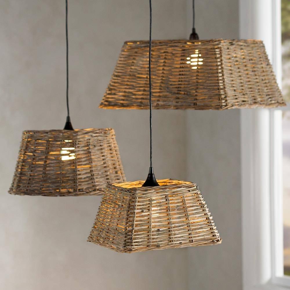 Handwoven Rattan Pendant Light Collection | Vivaterra for Rattan Pendant Lighting (Image 4 of 15)