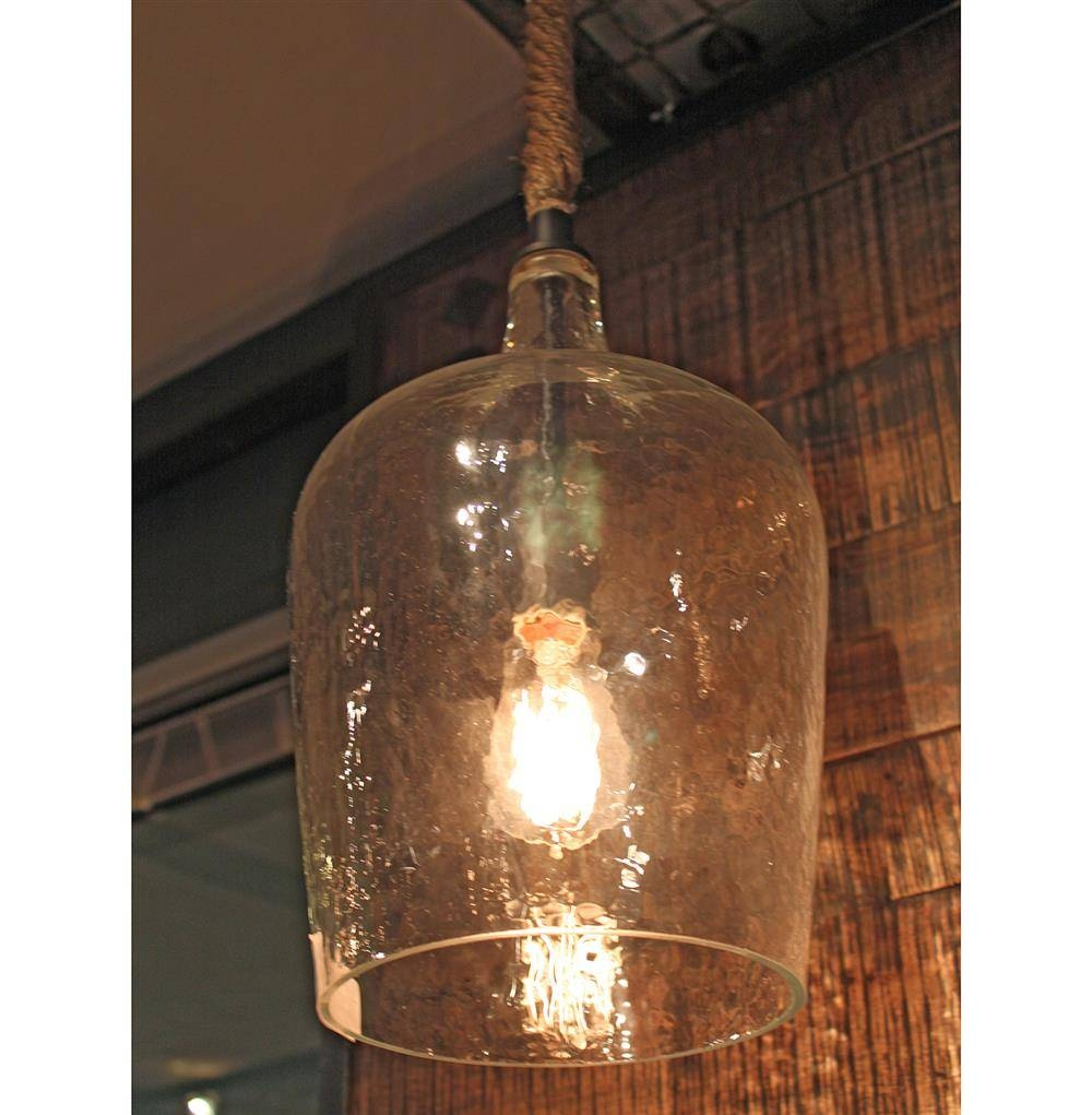 Harbortown Coastal Beach Hammered Glass Pendant Light | Kathy Kuo Home throughout Hammered Pendant Lights (Image 5 of 15)