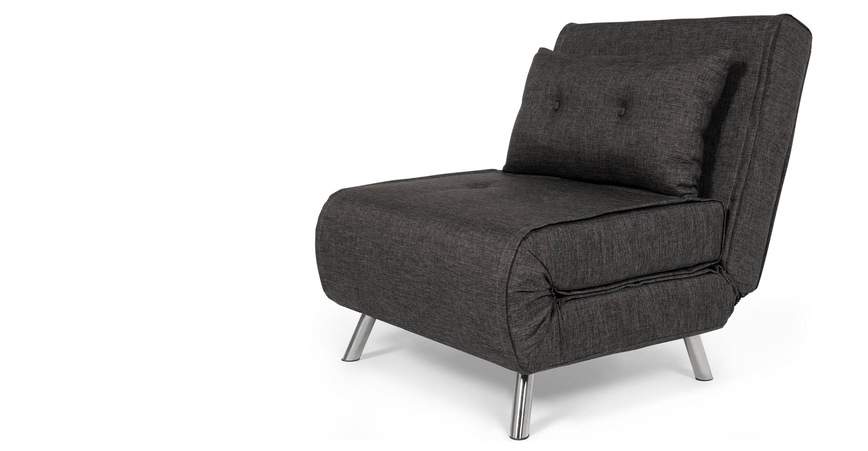 Haru Single Sofa Bed, Cygnet Grey | Made within Single Seat Sofa Chairs (Image 4 of 15)