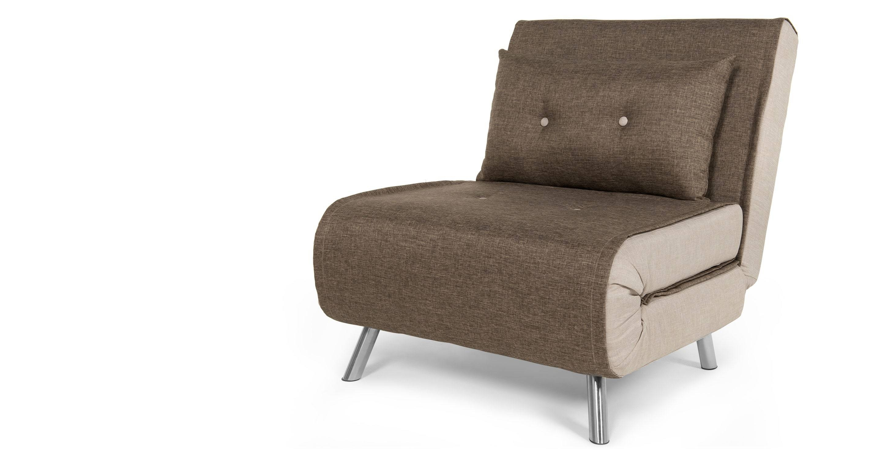 Haru Single Sofa Bed, Quartz Blue | Made Pertaining To Single Sofa Bed Chairs (View 10 of 15)