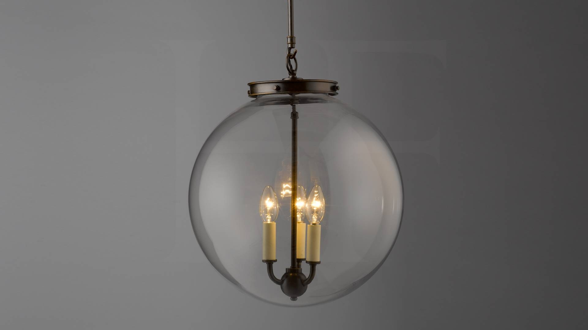 Hector Glass Globe, Largehector Finch Lighting throughout Glass Sphere Pendant Lights (Image 9 of 15)