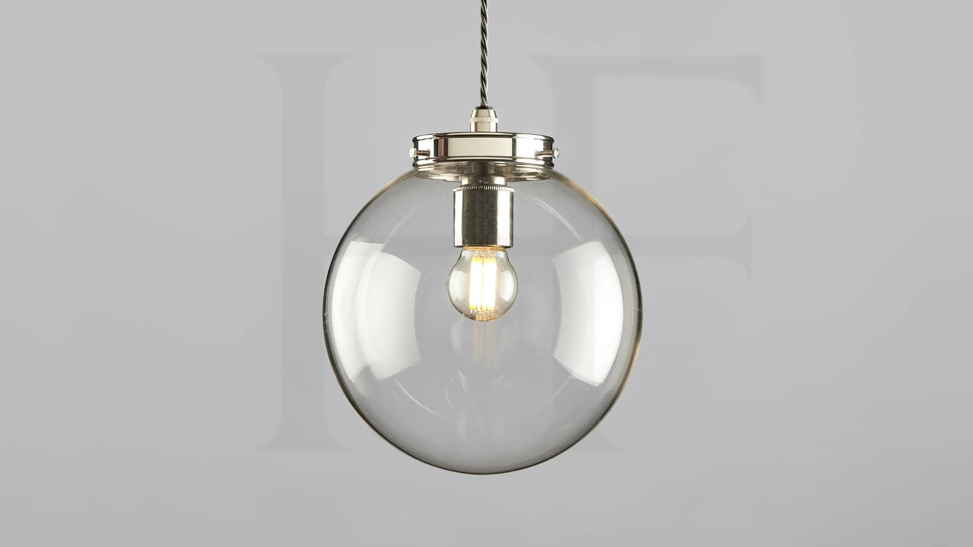 Hector Mini Globe Pendant, Clear Glasshector Finch Lighting pertaining to Glass Ball Pendant Lights Uk (Image 10 of 15)