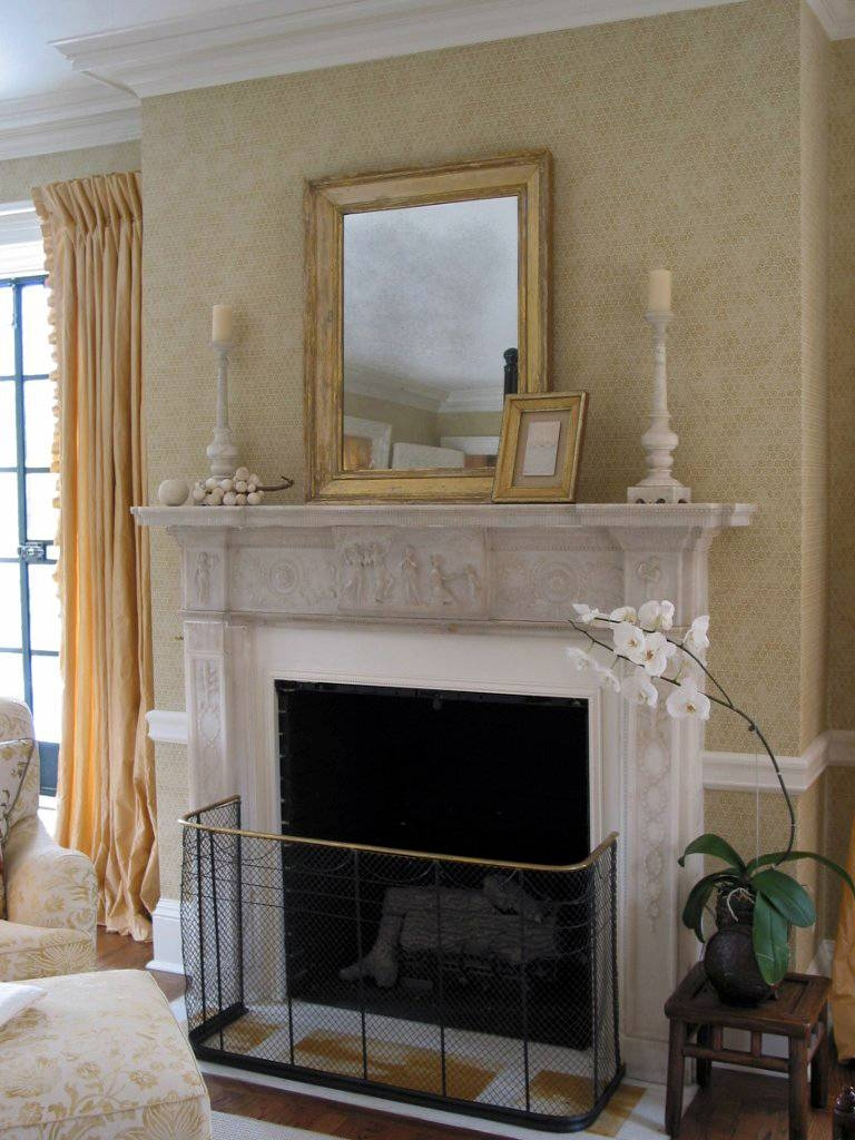 Heir And Space: Decorating With Gold Mirrors intended for Gold Mantle Mirrors (Image 10 of 15)