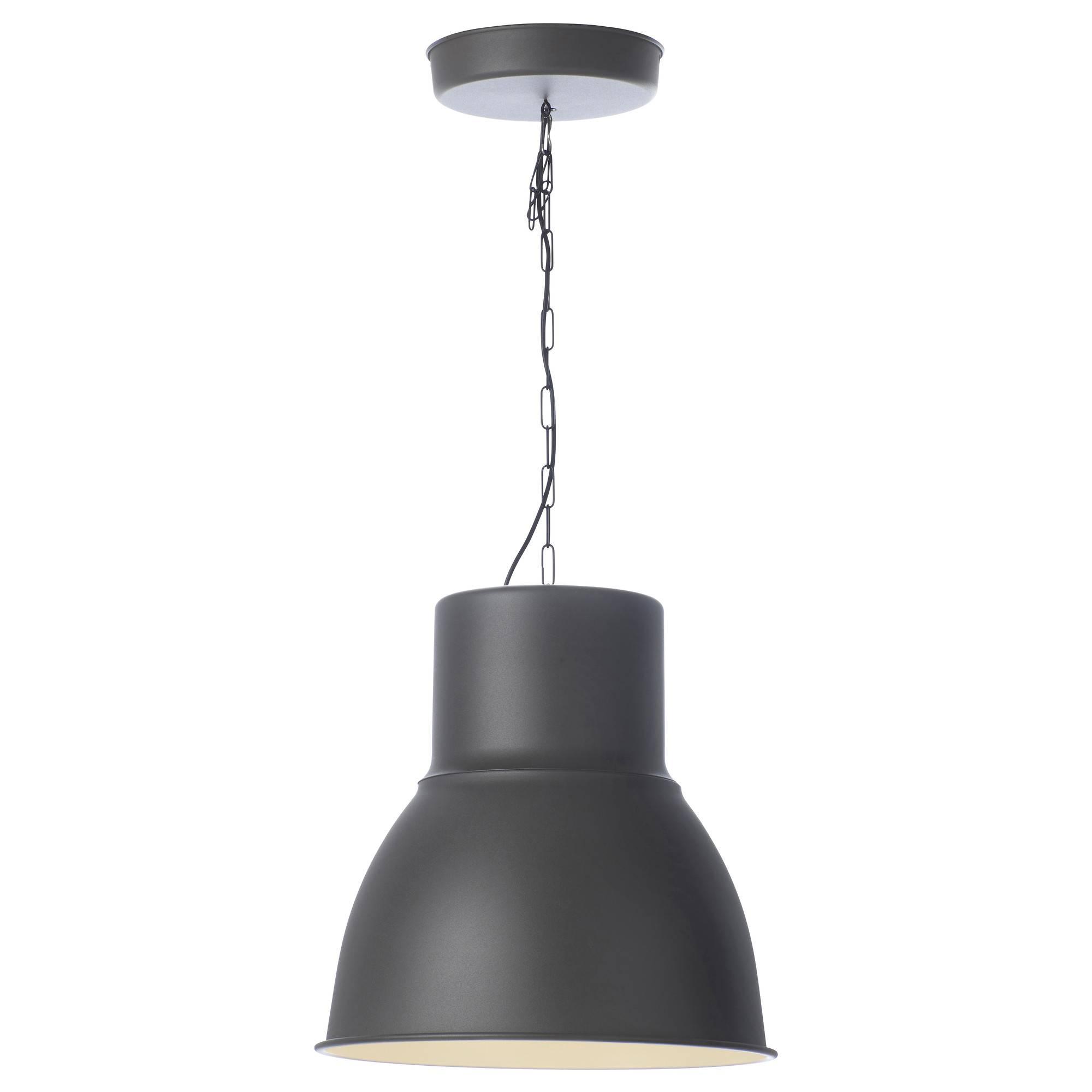 "Hektar Pendant Lamp - Dark Gray, 19 "" - Ikea with Ikea Pendant Lights (Image 6 of 15)"