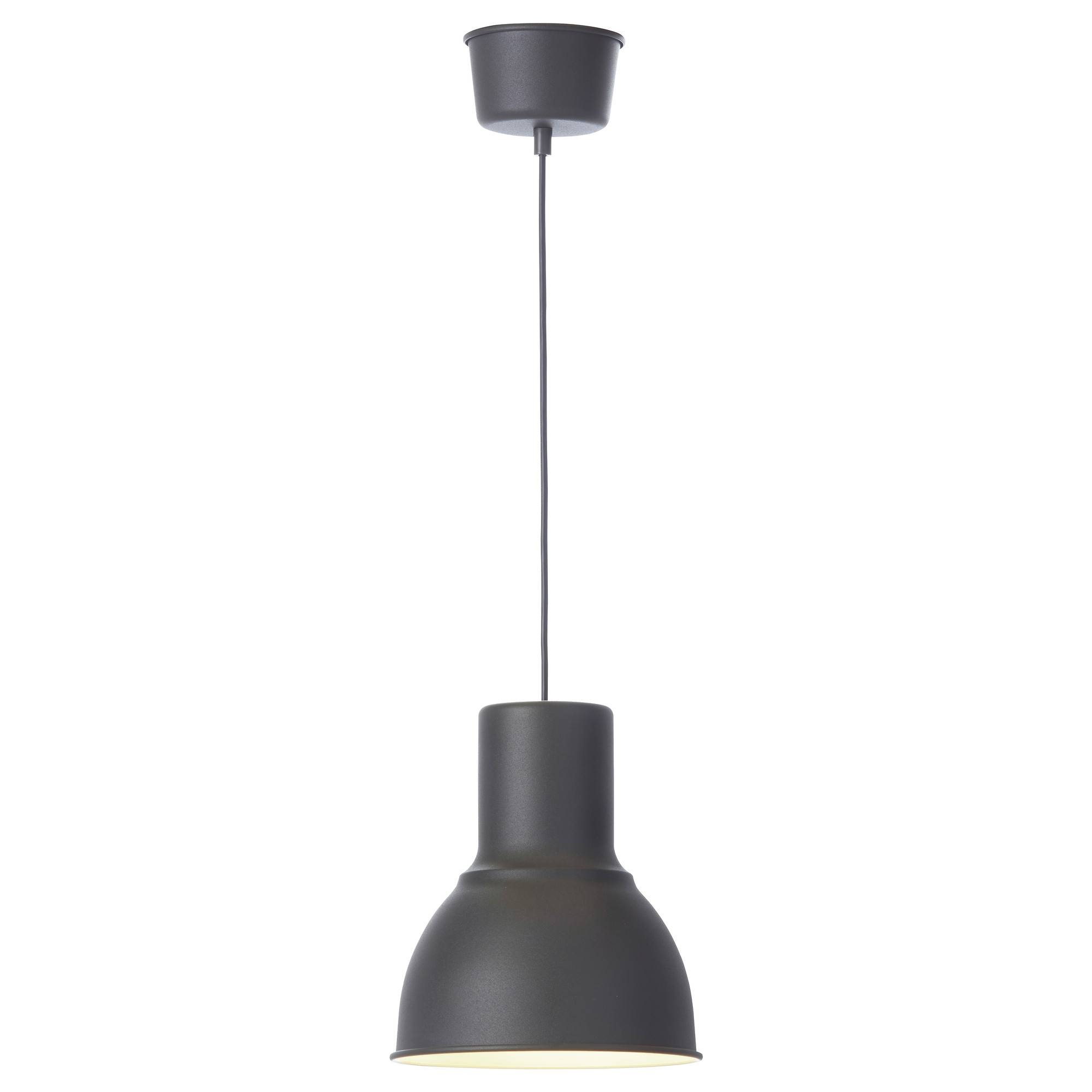 Hektar Pendant Lamp Dark Grey 22 Cm - Ikea pertaining to Ikea Ceiling Lights Fittings (Image 5 of 15)