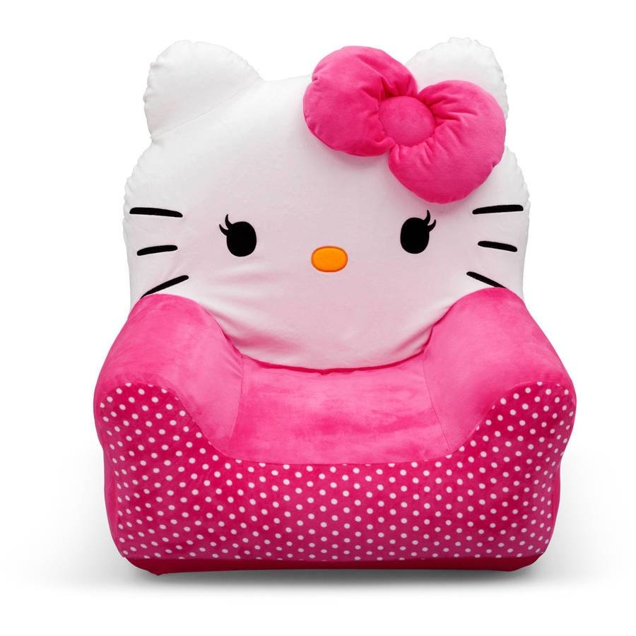 Hello Kitty Bows Toddler Piece Sofa Chair And Ottoman Set Toddler with Toddler Sofa Chairs (Image 6 of 15)