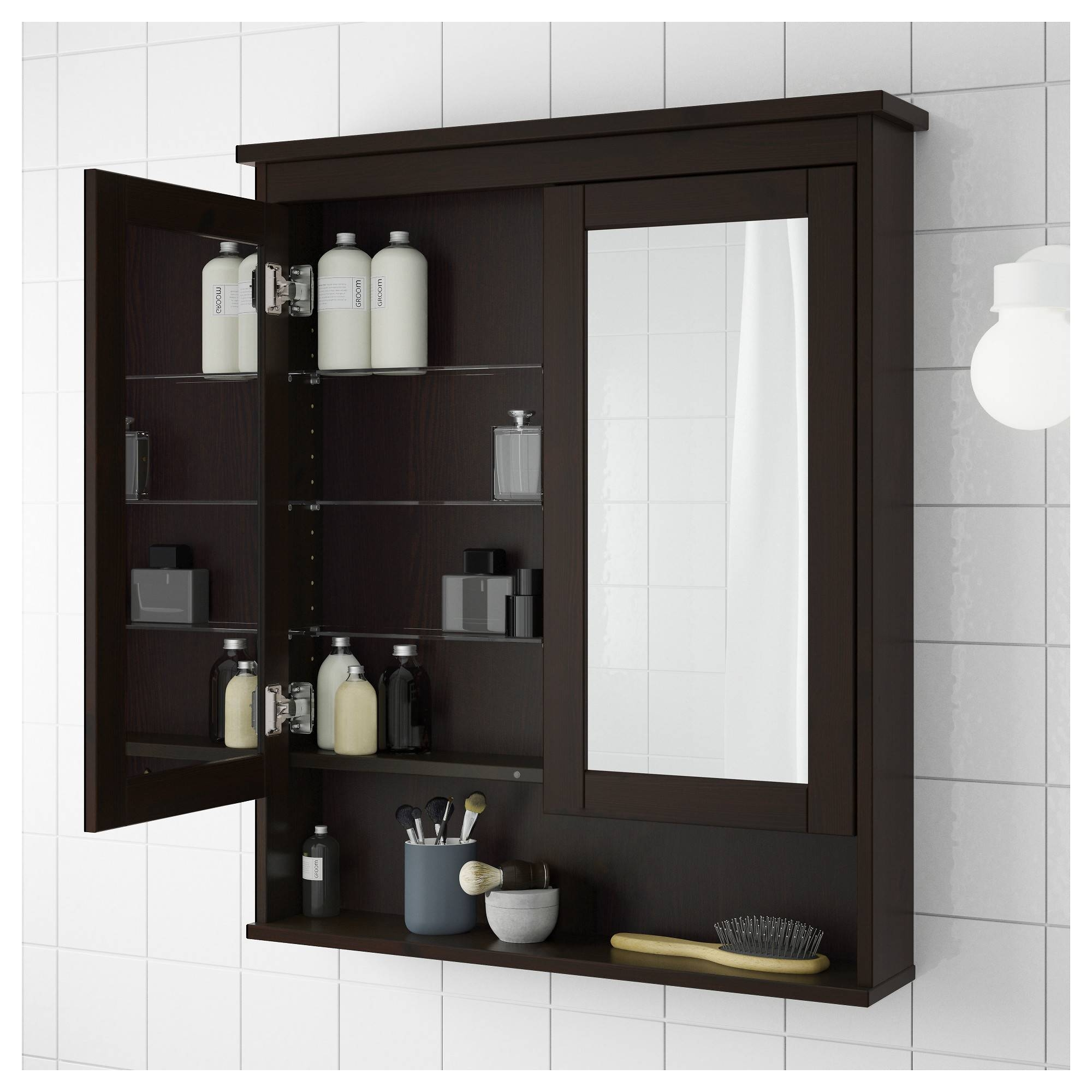 Featured Photo of Black Cabinet Mirrors