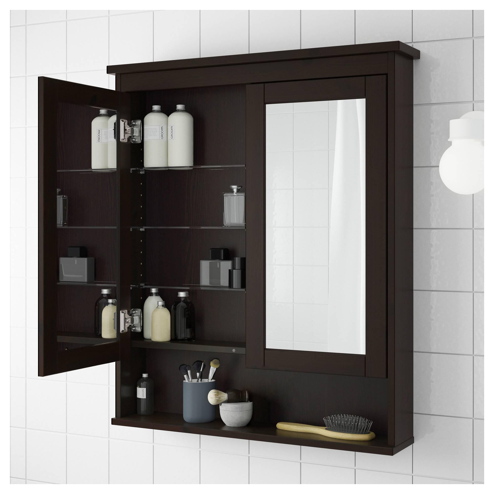 Popular Photo of Black Cabinet Mirrors
