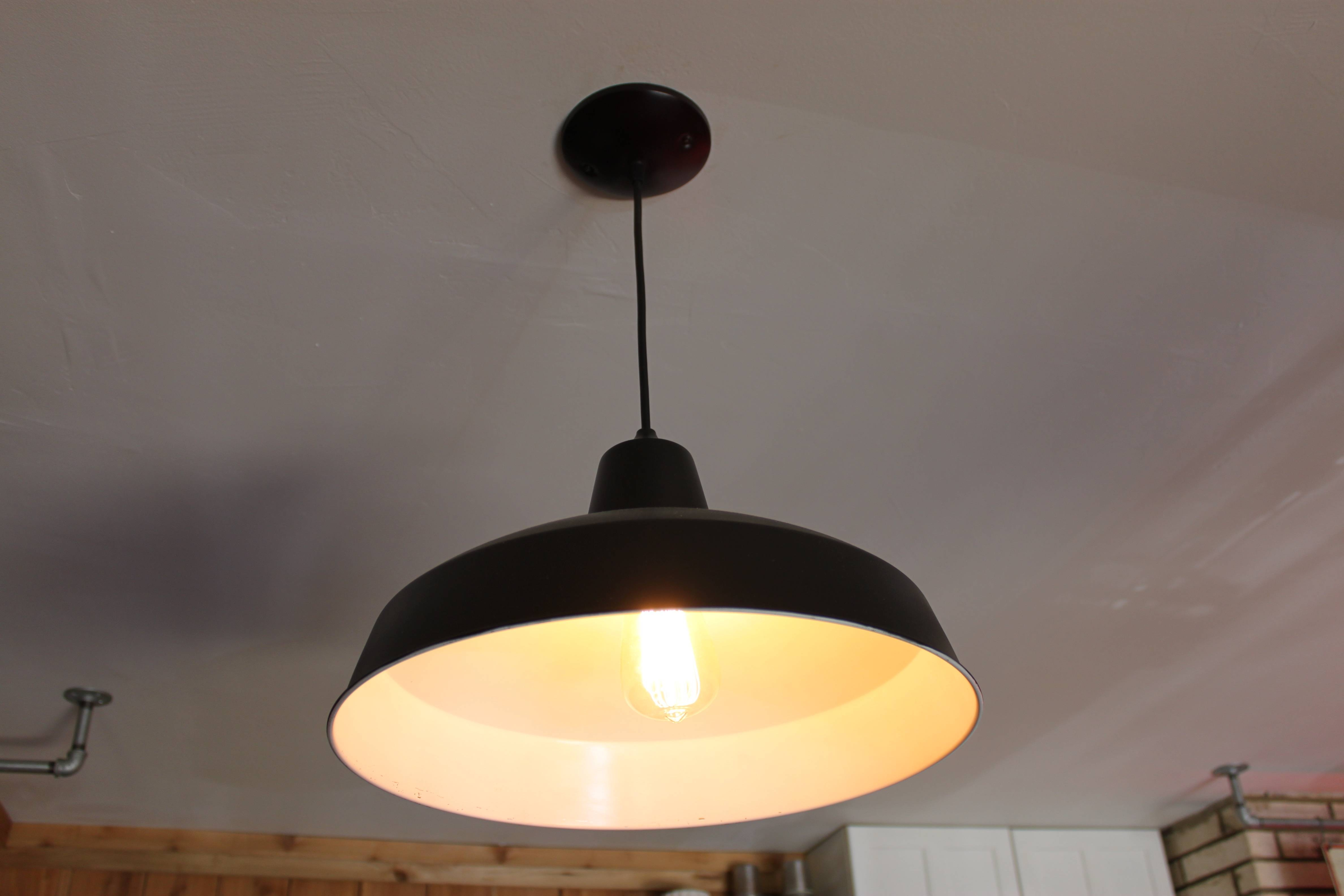 Here Come The Factory Pendants | The Cavender Diary regarding Barn Pendant Lights (Image 7 of 15)