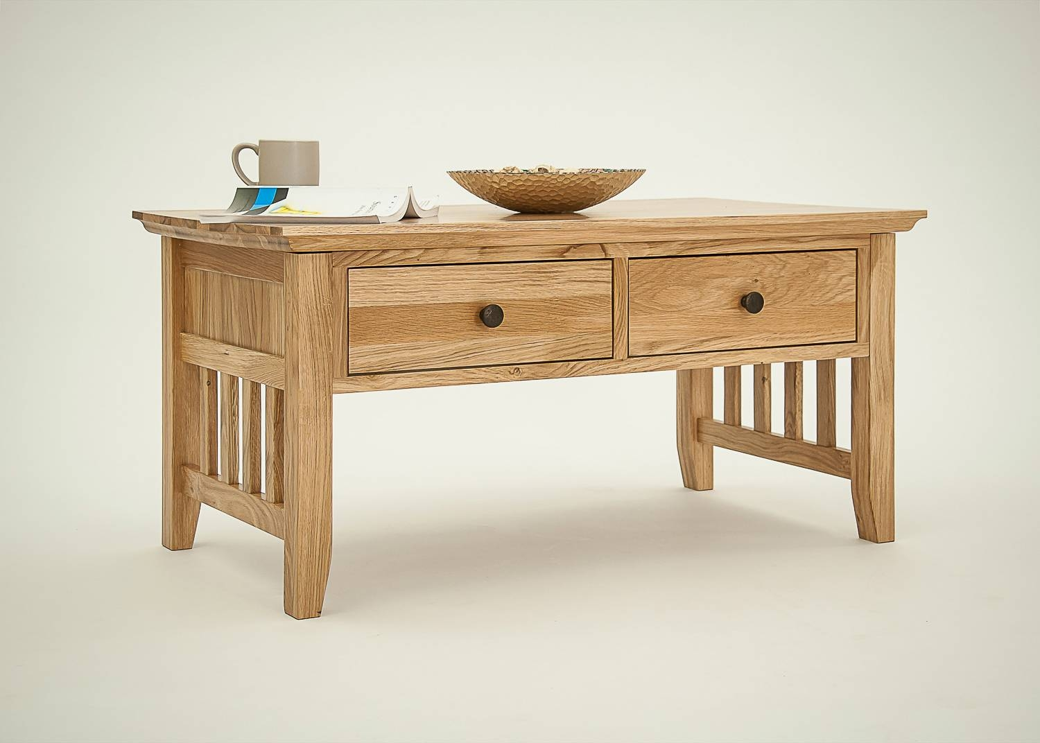 Hereford Rustic Oak Coffee Table. Shop Online. In-Store. Mobile in Oak Furniture Coffee Tables (Image 6 of 15)