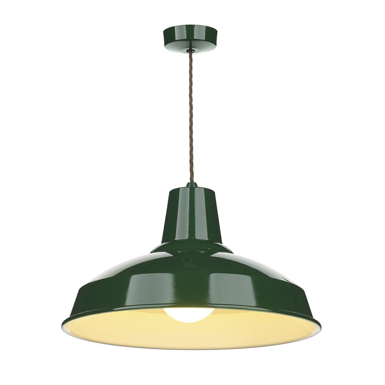 Hicks And Hicks Calstock Pendant Light British Racing Green with regard to Lime Green Pendant Lights (Image 7 of 15)