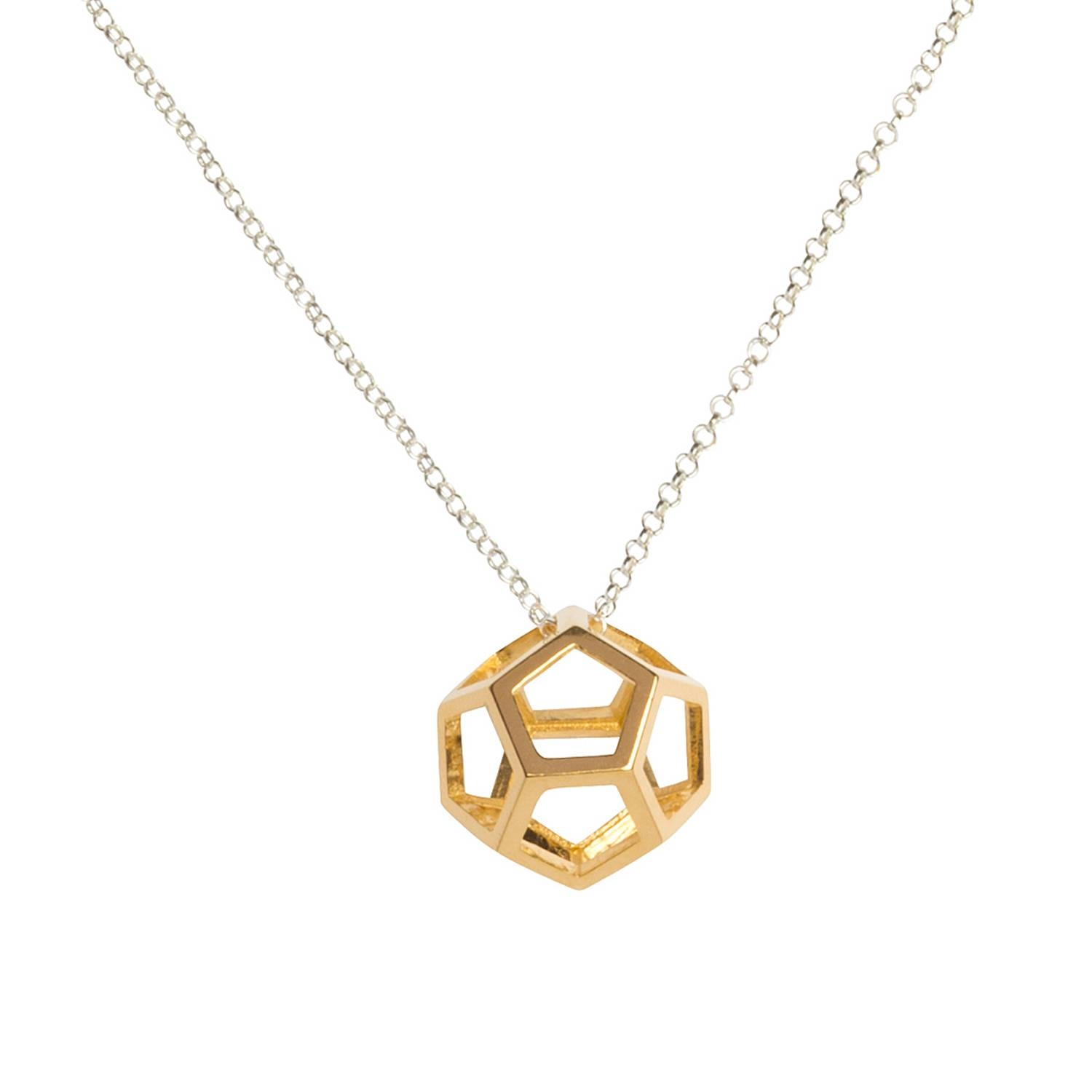 Hollow Dodecahedron Pendant • Necklacesmatthew Calvin throughout Dodecahedron Pendant Lights (Image 12 of 15)